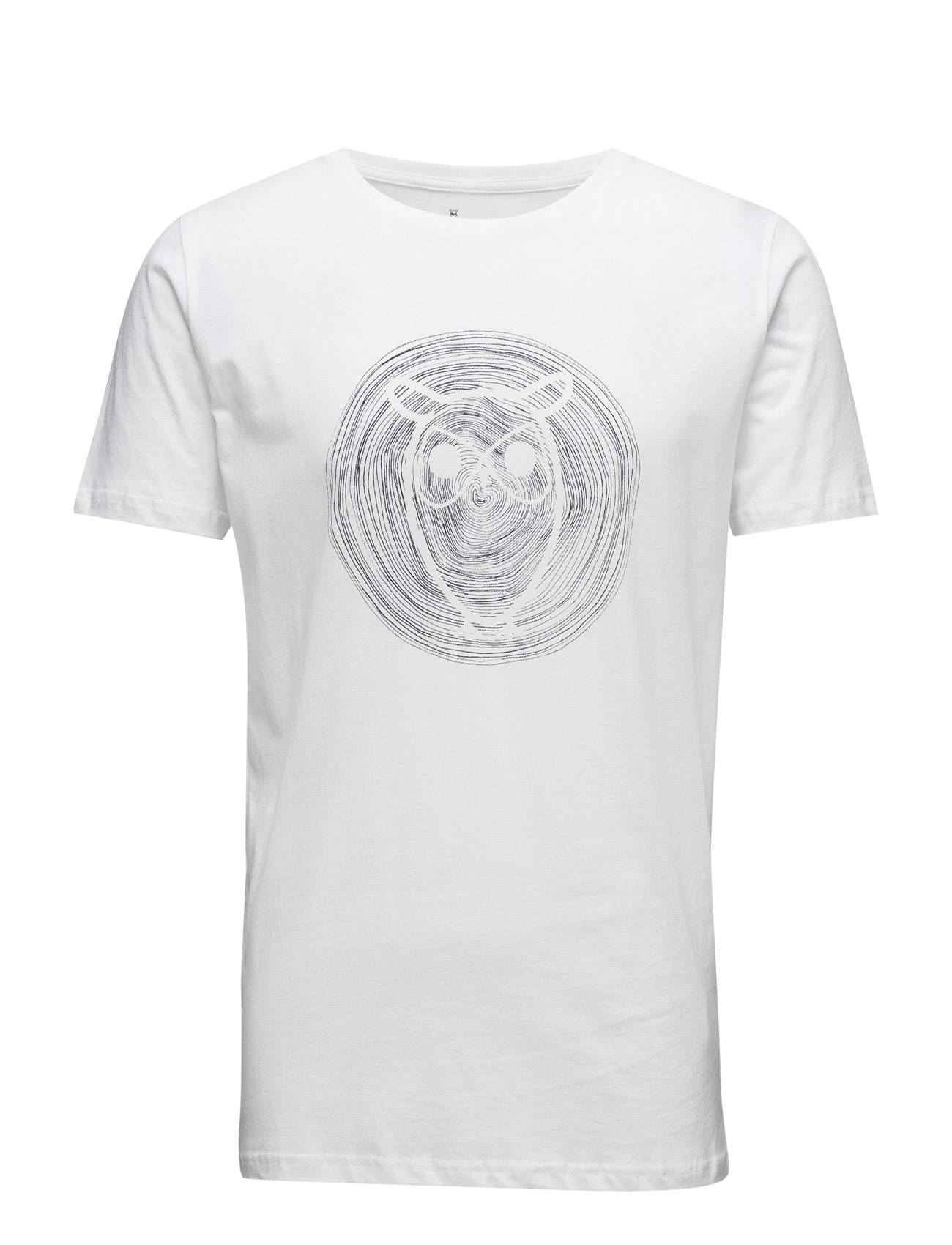 Knowledge Cotton Apparel Tee W/ Owl Wooden Print - Gots