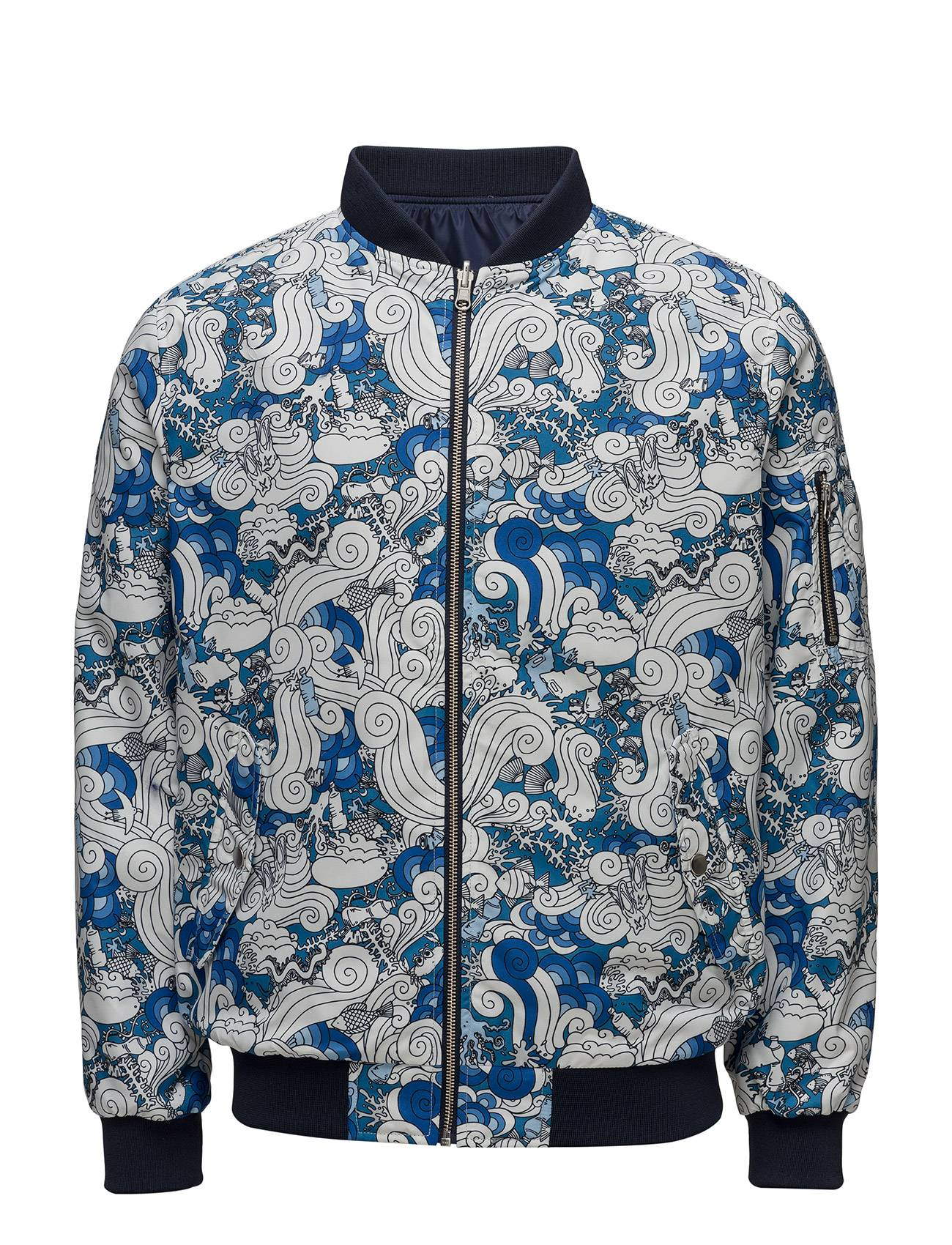Knowledge Cotton Apparel All Over Waste Printed Catalina Jacket
