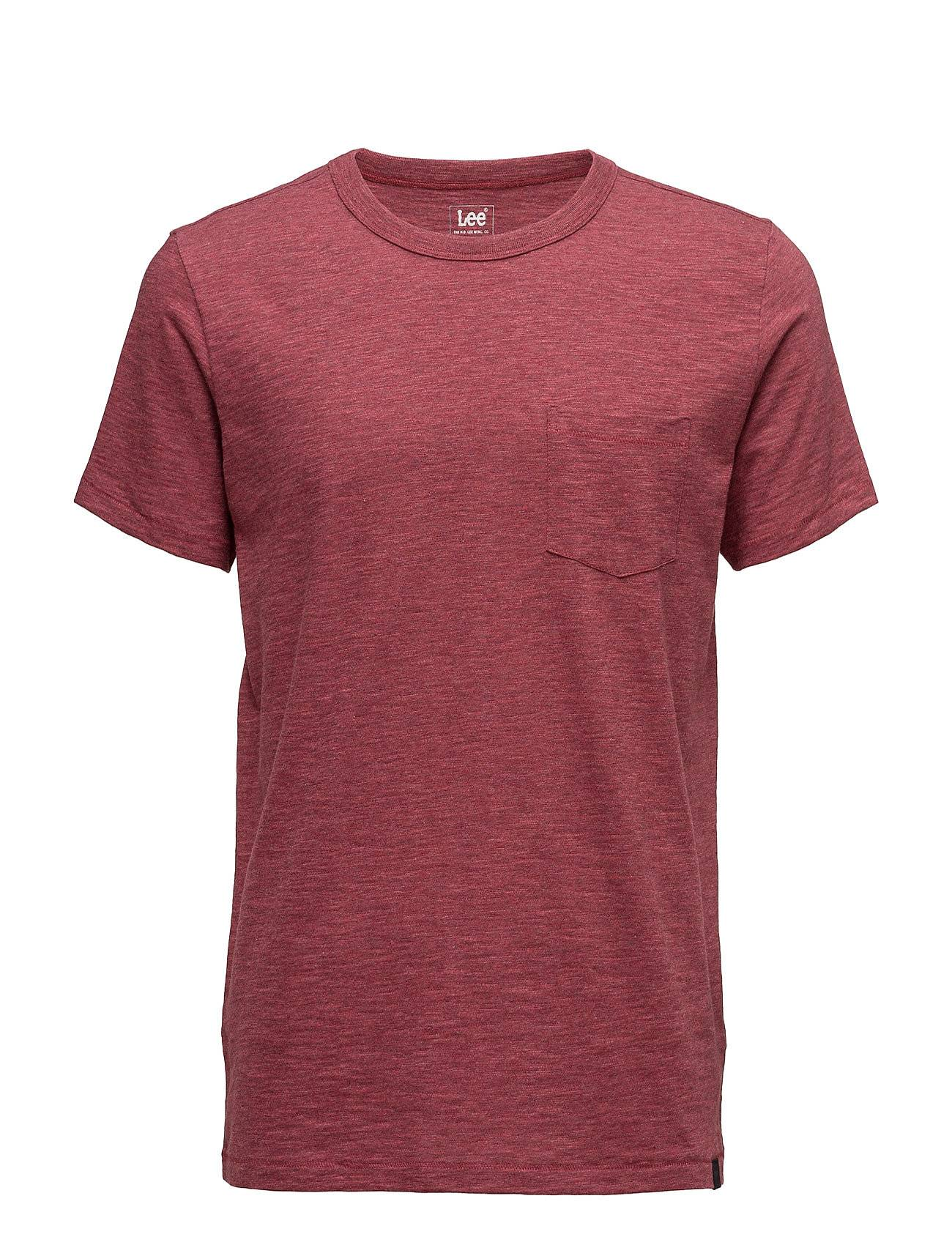 Lee Jeans Pocket Tee Tawny Port