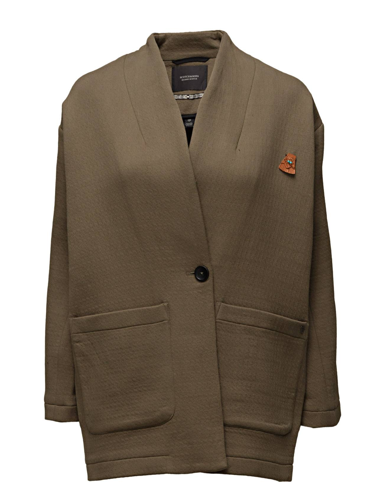 Scotch & Soda Relaxed Fit Blazer Jacket In New Texture