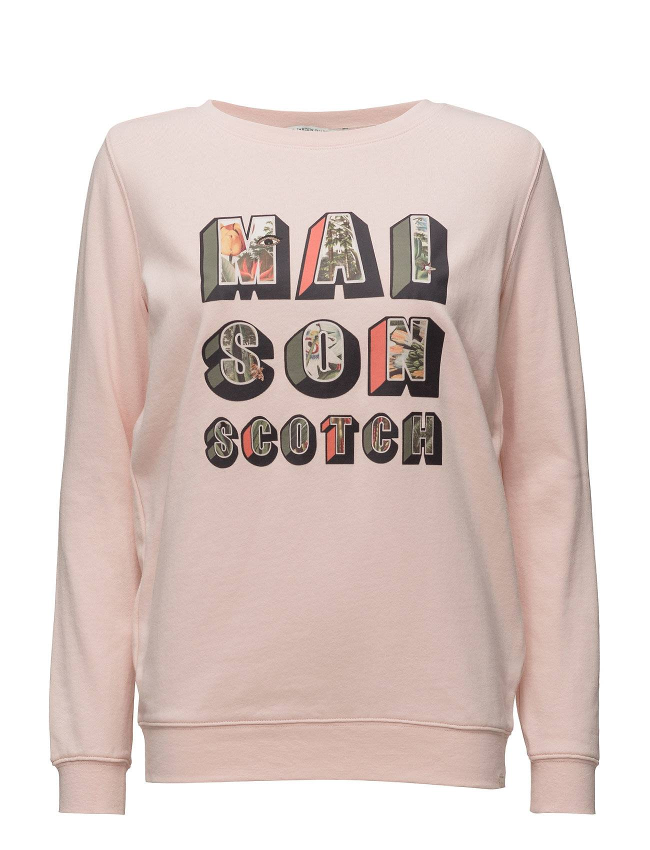 Scotch & Soda Clean Crewneck Sweat With Special Photoprinted Artworks