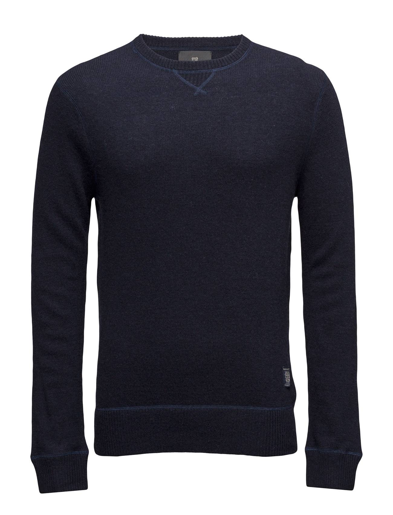 Scotch & Soda Crewneck Pullover In Boiled Wool Quality