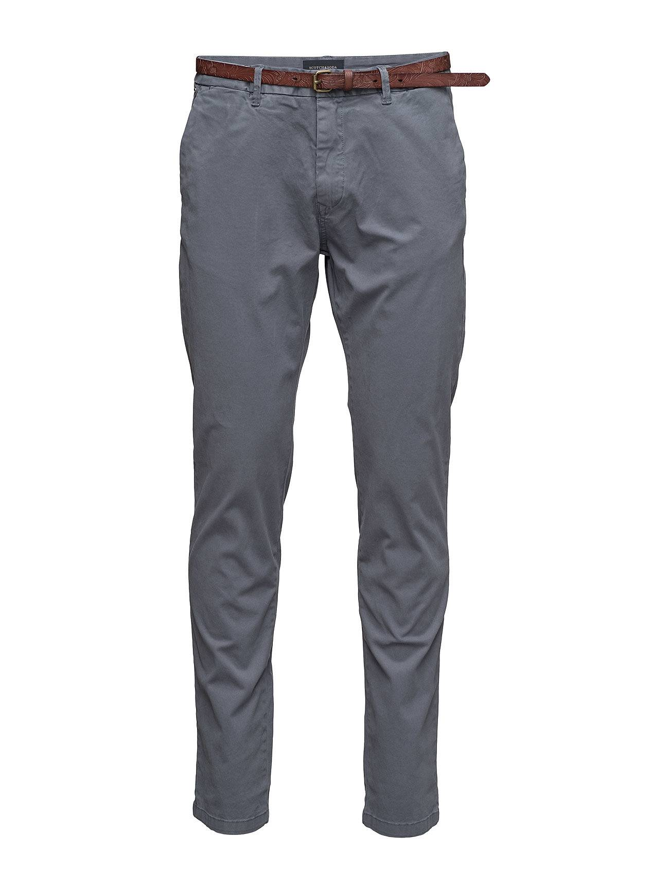 Scotch & Soda Classic Garment Dyed Chino Pant In Stretch Cotton
