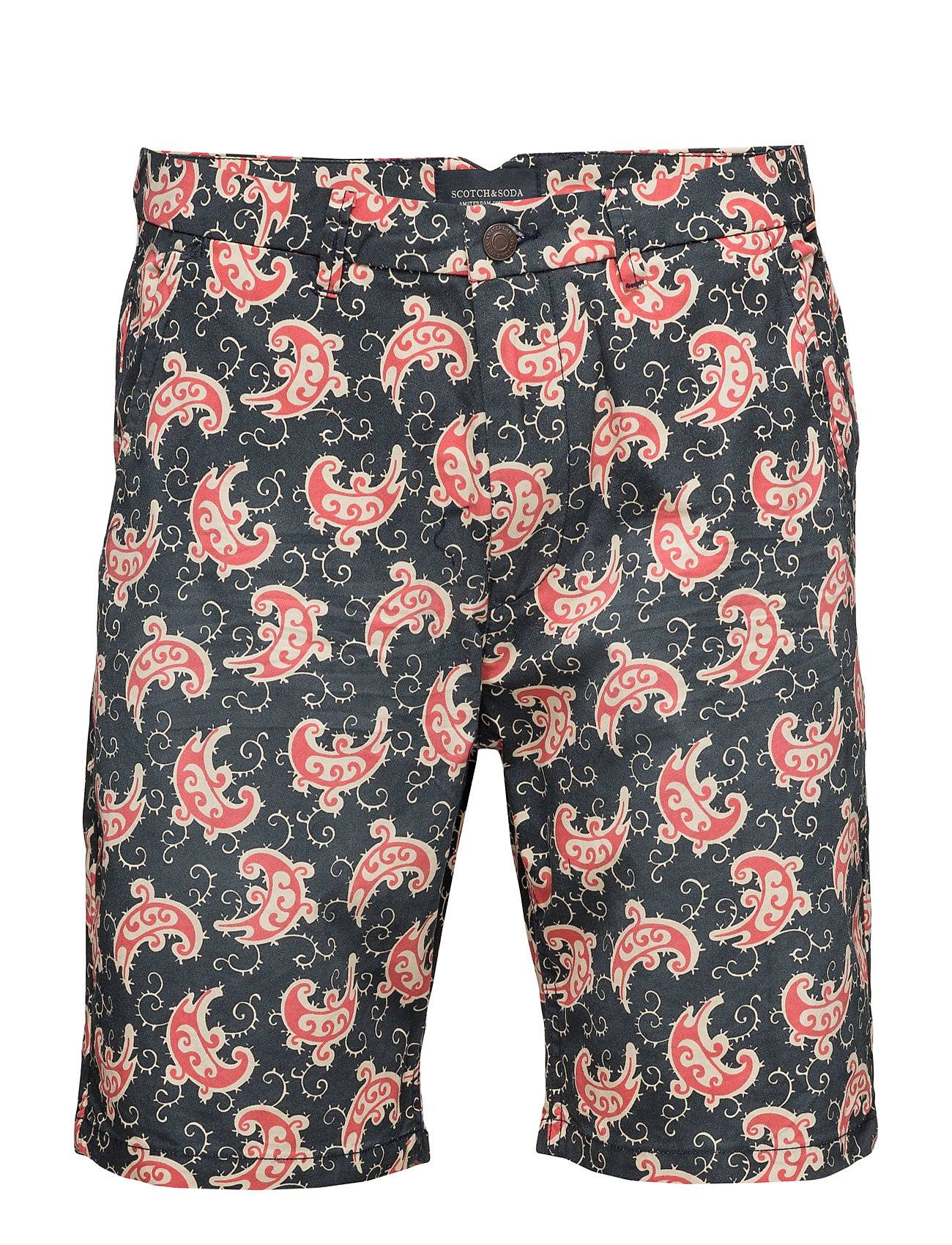 Scotch & Soda Short With All-Over Print And Subtle Wash Effect