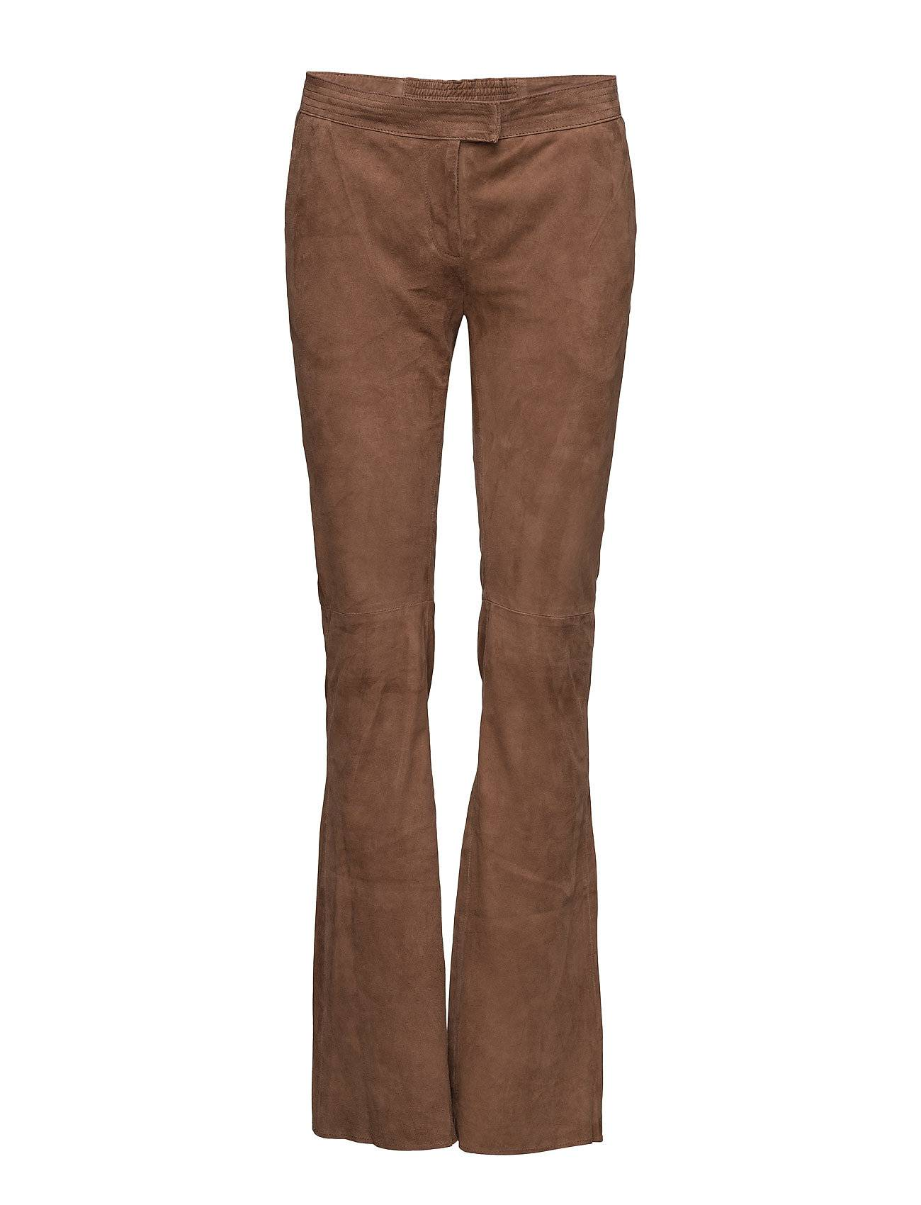 Second Female Oak Suede Flared Pants