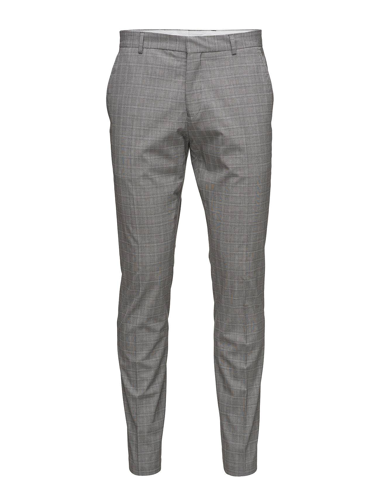 Selected Homme Shdone-Taxelias Grey Check Trousers