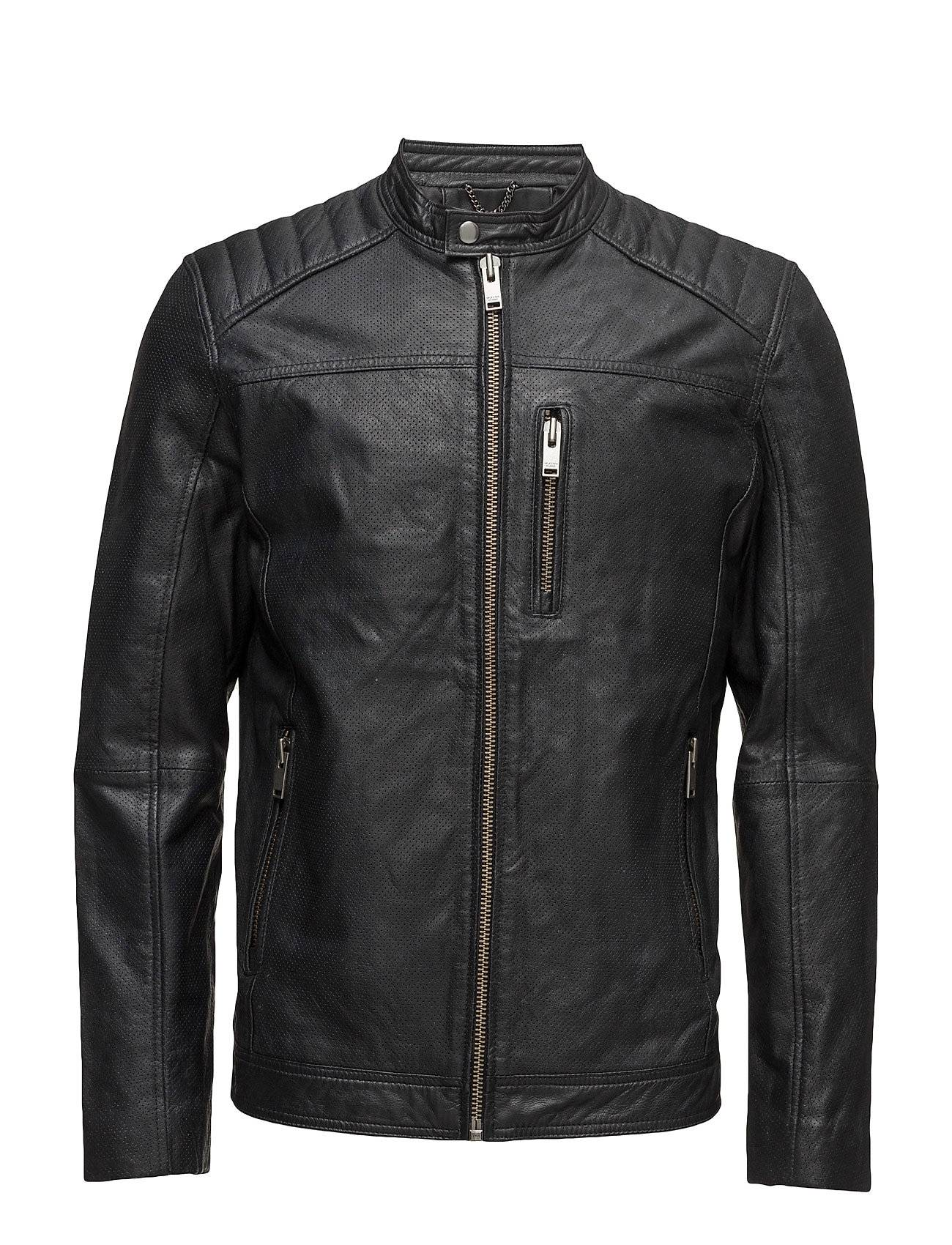 Selected Homme Shnkurt Racer Leather Jacket