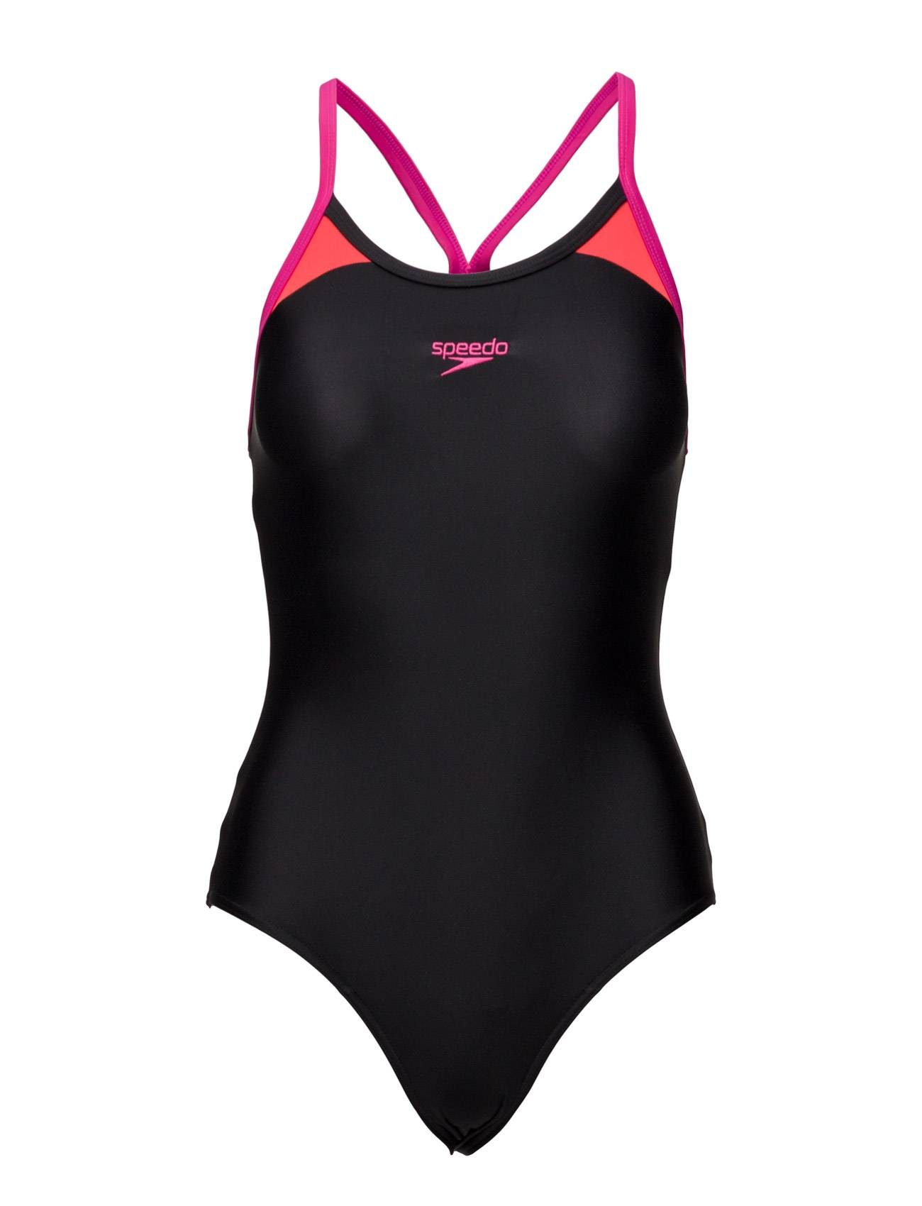 Speedo Splice Thinstrap Racerba Black/Pink 32(28 )