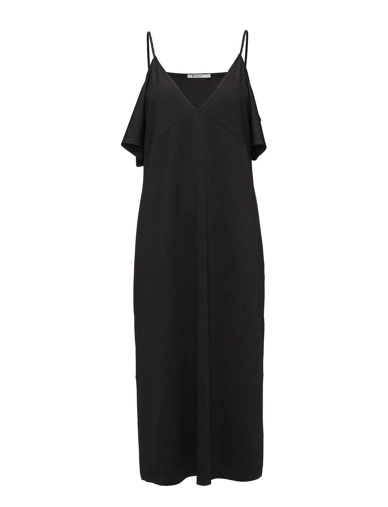T by Alexander Wang Lux Ponte Cold Shoulder Midi Dress With Straps