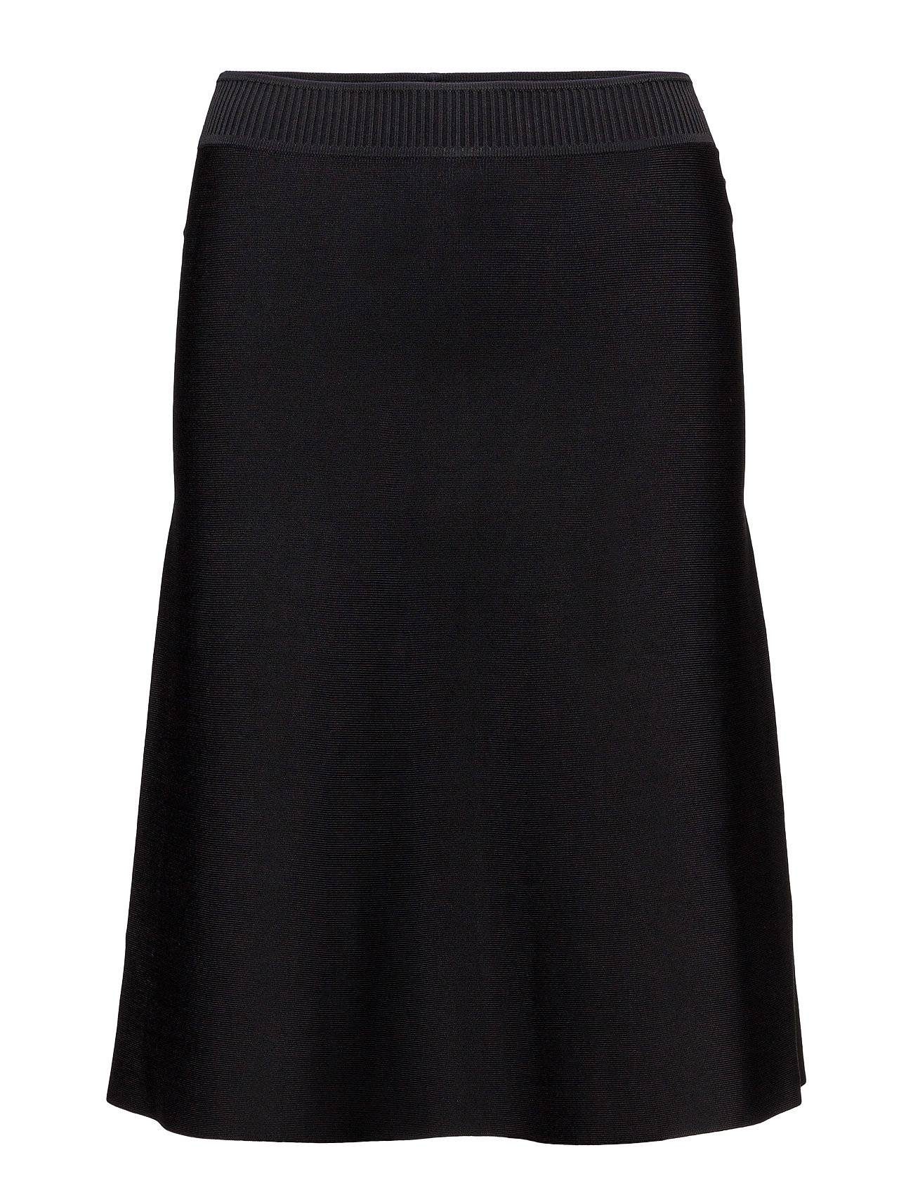 T by Alexander Wang Dull Rayon Knit A-Line Flare Skirt
