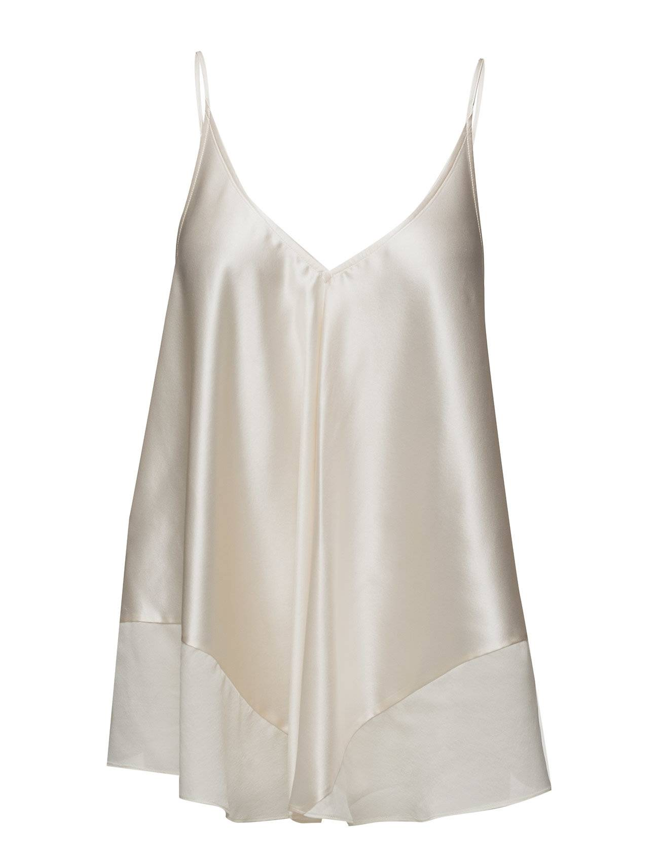 T by Alexander Wang Silk Charmeuse With Habotai Trapeze Cami Top