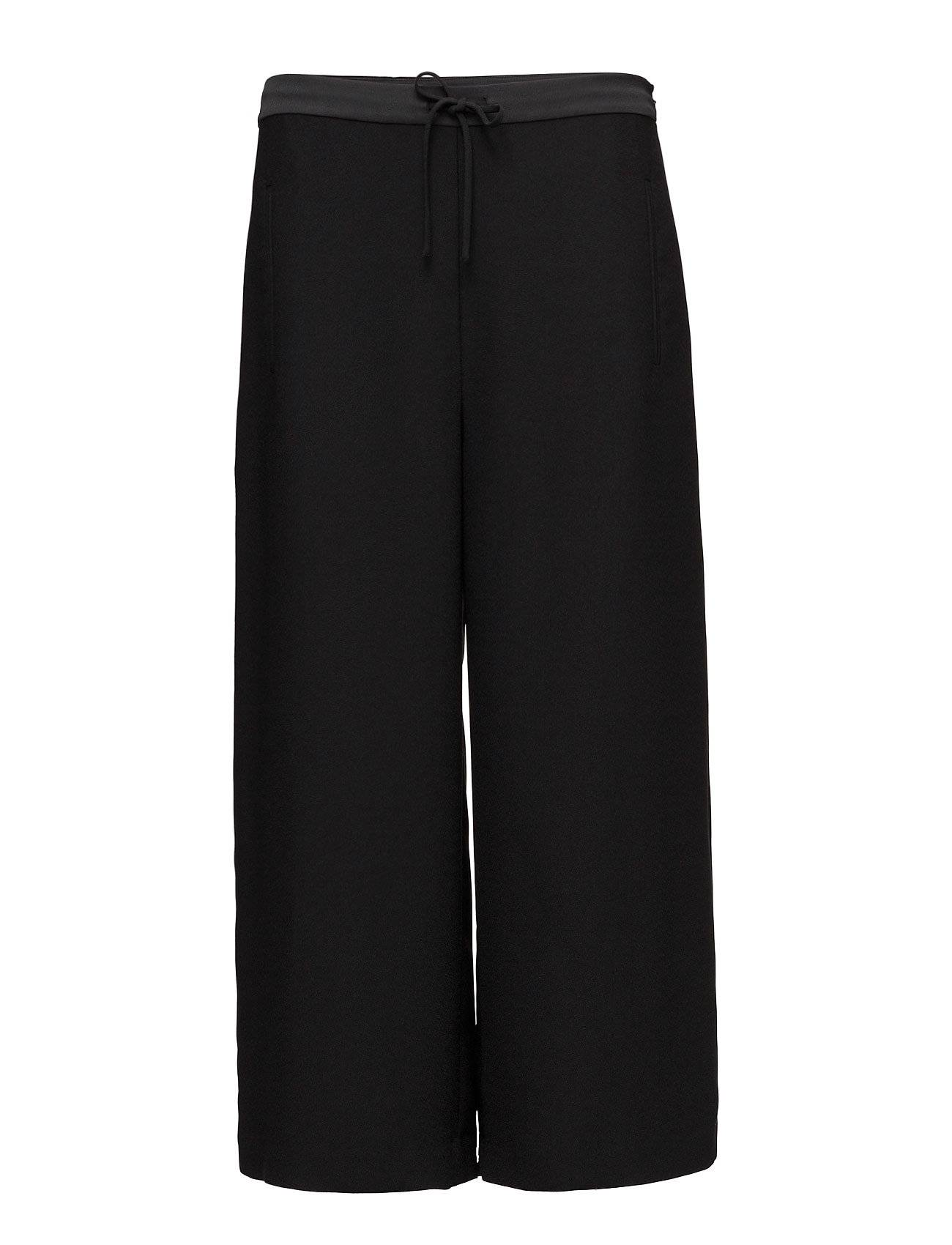 T by Alexander Wang Poly Satin Crepe Wide Legankle Length Pant