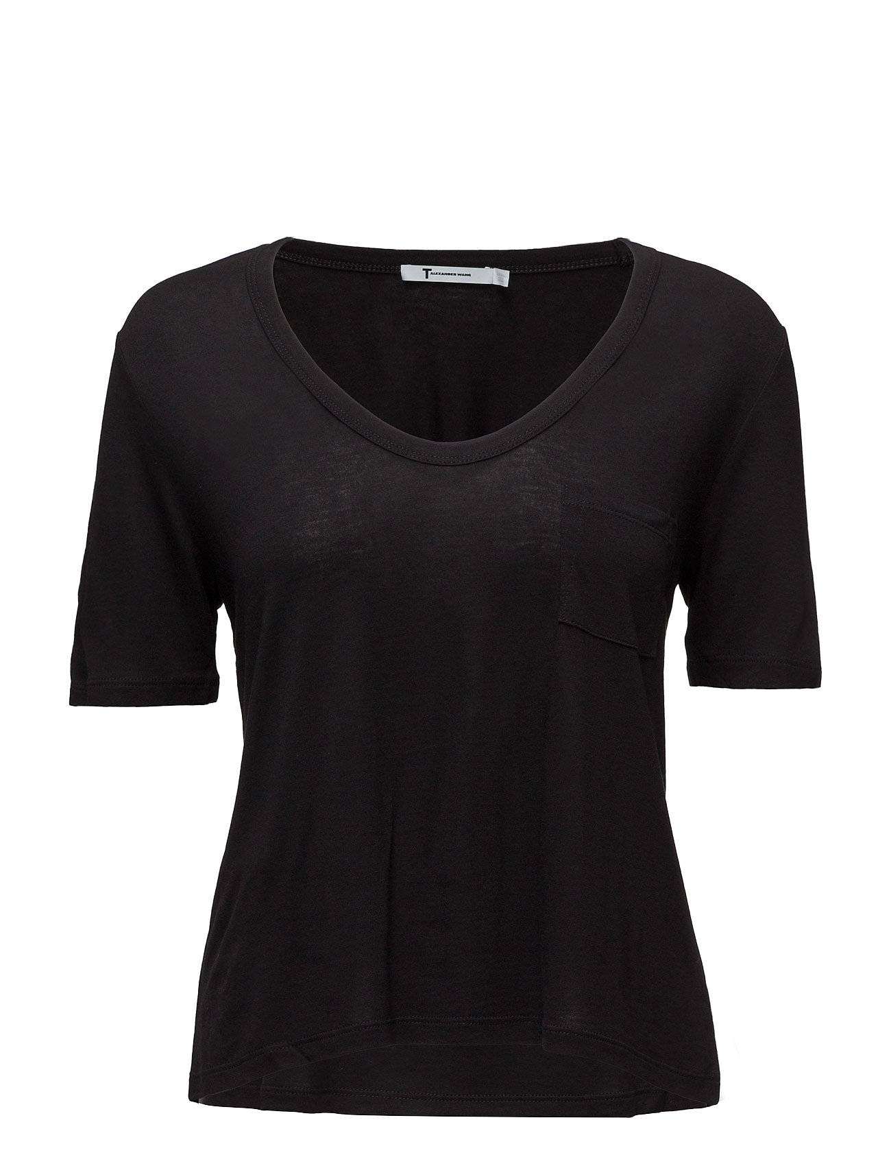 T by Alexander Wang Classic Cropped Tee Withchest Pocket
