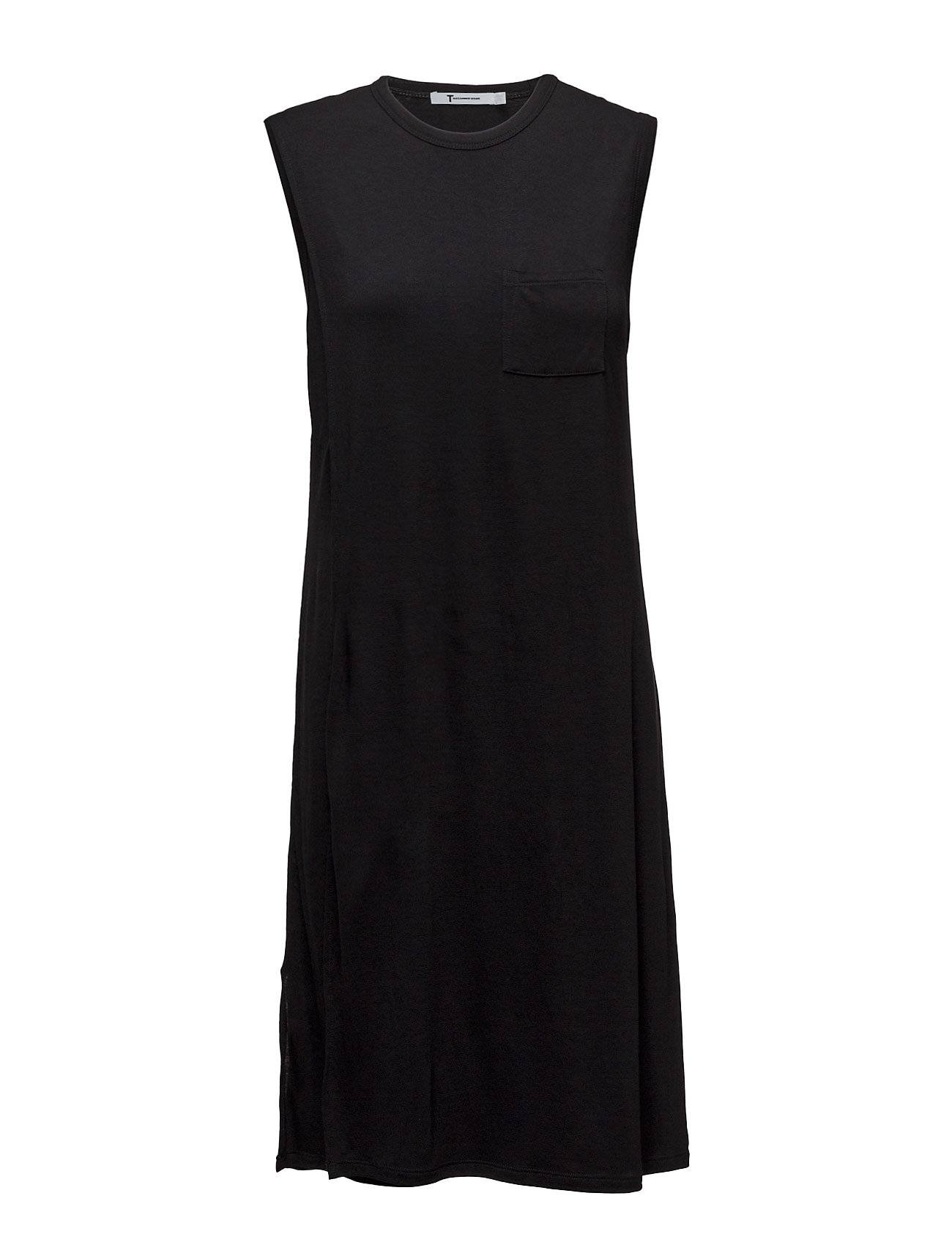 T by Alexander Wang Classic Crewneck Overlapdress With Chest Pocket