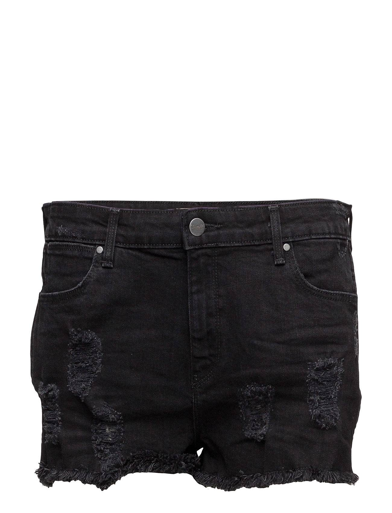 Wrangler Boyfriend Short Damaged Black