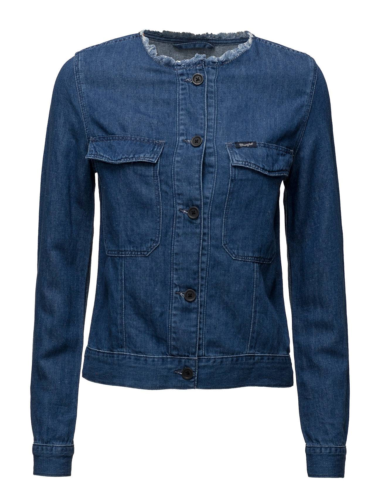 Wrangler Collarless Jacket Summer Breeze