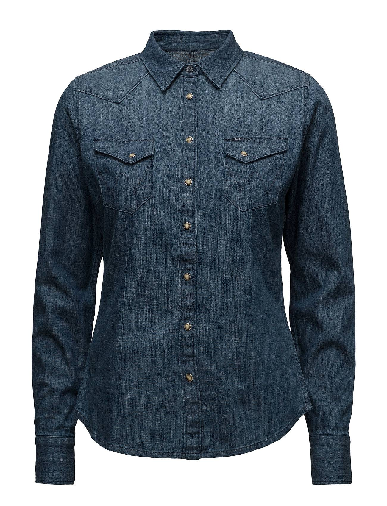 Wrangler Slim Western Shirt Bleach