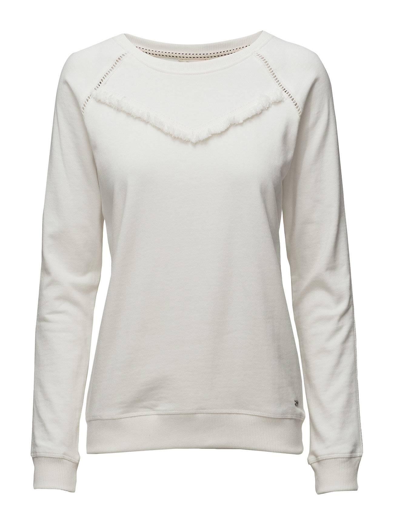Wrangler Fringes Sweat Ivory