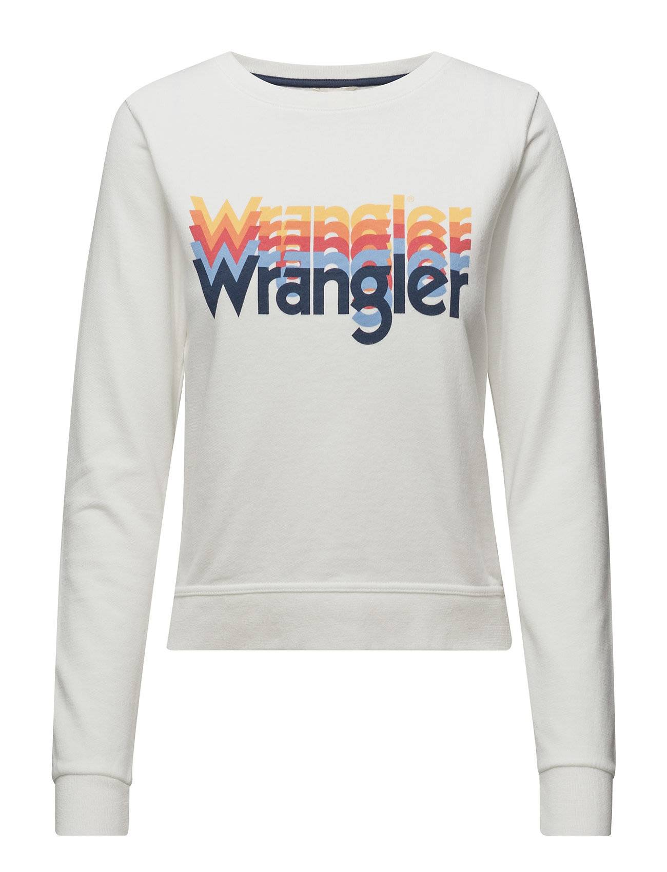 Wrangler Kabel Sweat Offwhite