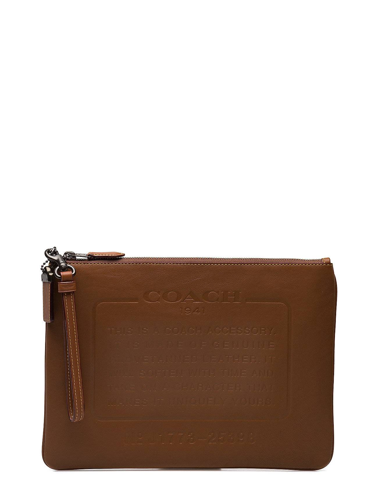 Coach Story Patch Pouch In Washed Sport Calf