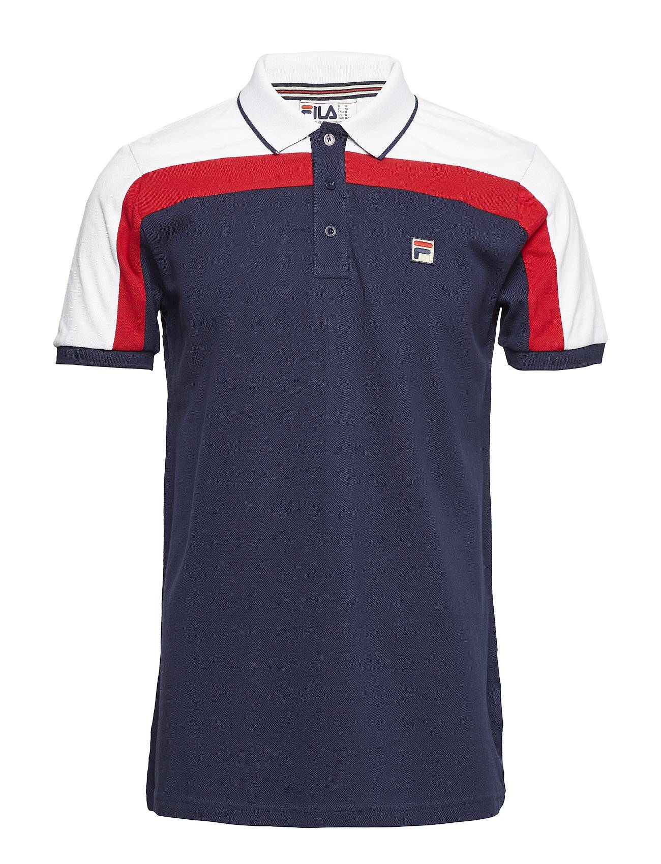 FILA Spencer Cut And Sew Panel Slim Fit Polo With