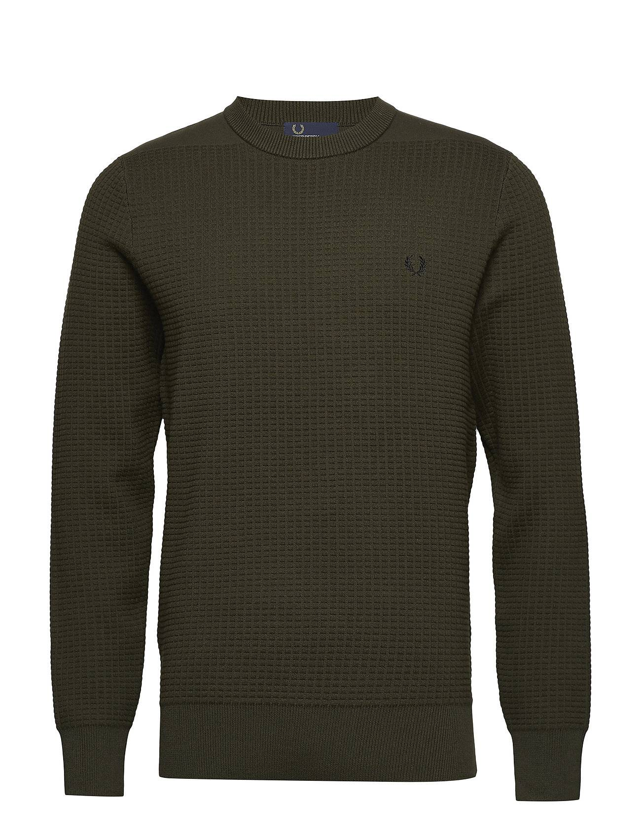 Fred Perry Waffle Crew Neck Jumper