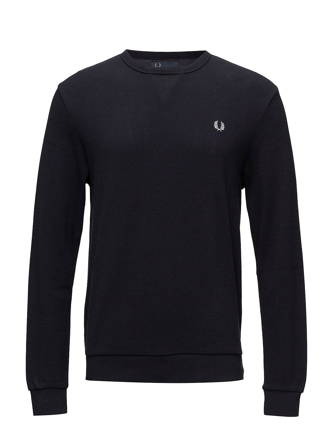 Fred Perry Waffle Crew Neck Sweat