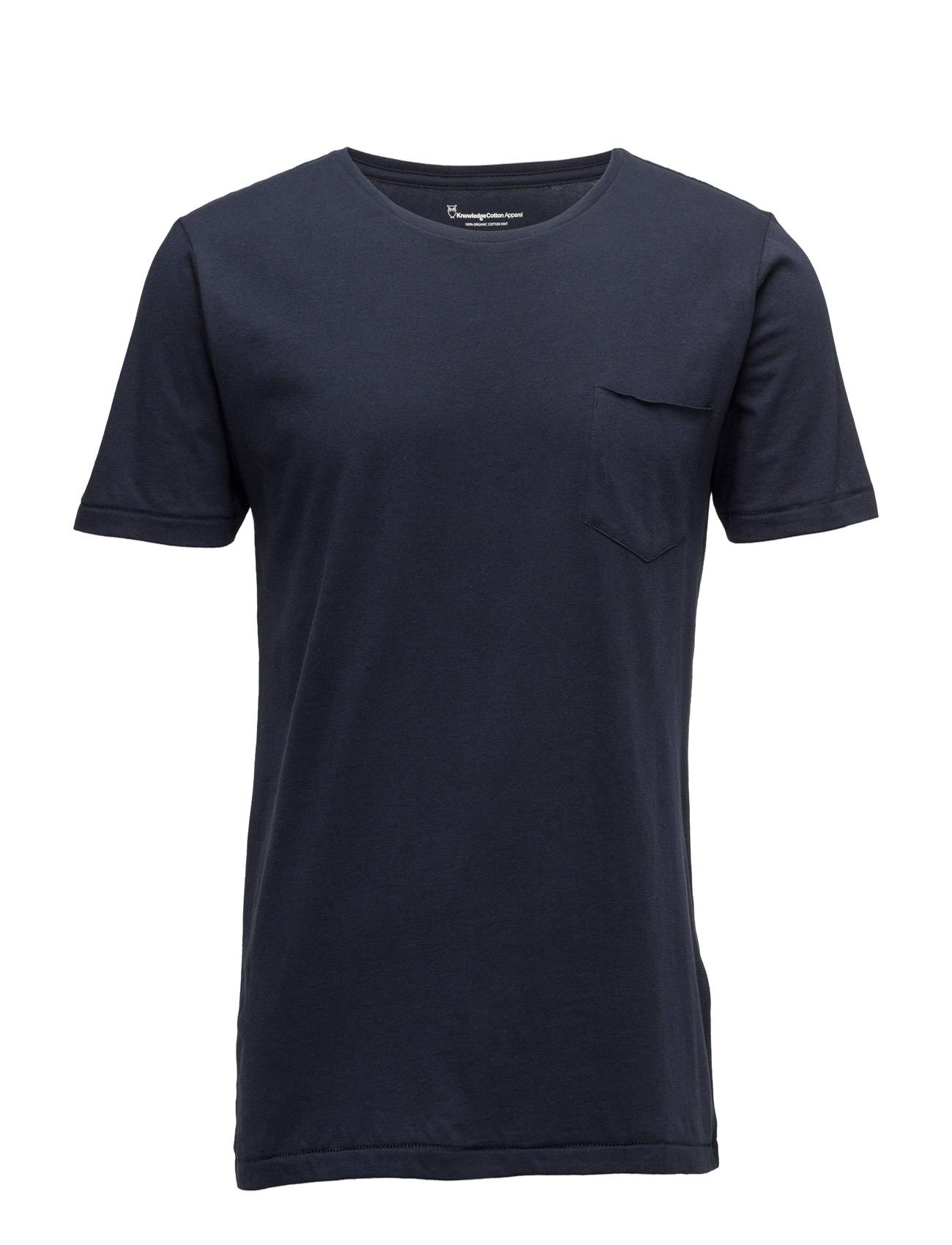 Knowledge Cotton Apparel Basic Tee With Chest Pocket Gots/Ve
