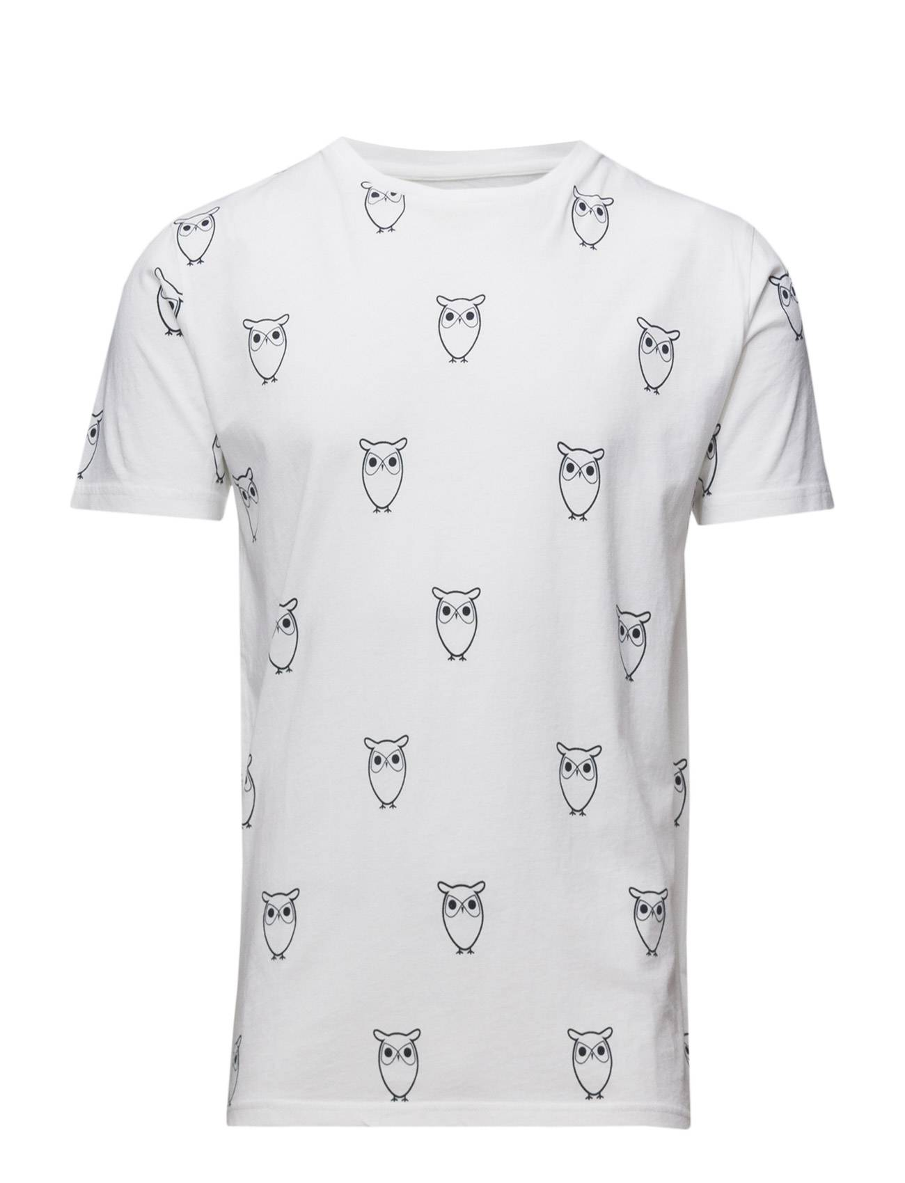 Knowledge Cotton Apparel All Over Big Owl Printed Tee - Gots