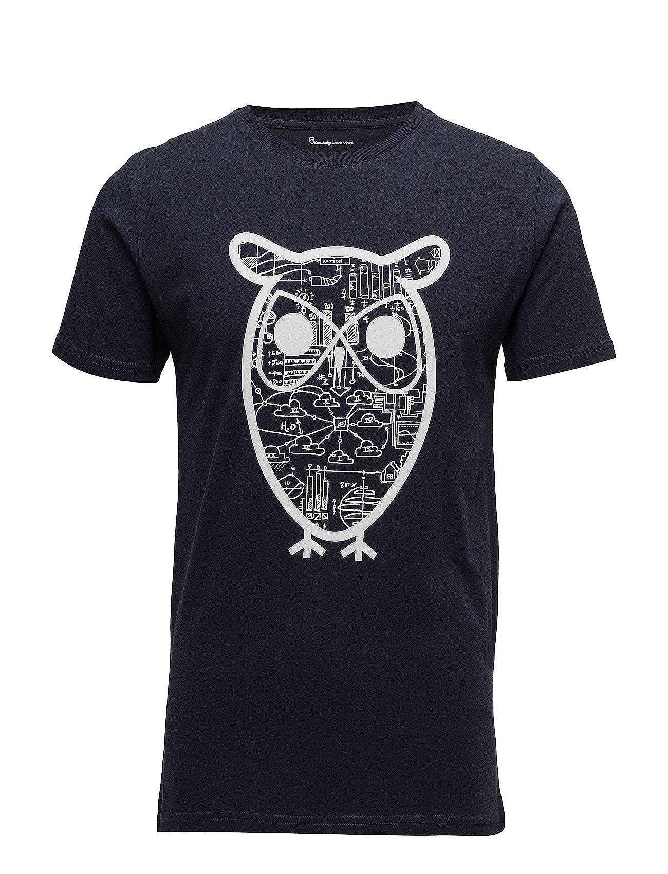 Knowledge Cotton Apparel T-Shirt With Diagram Owl Print - Go