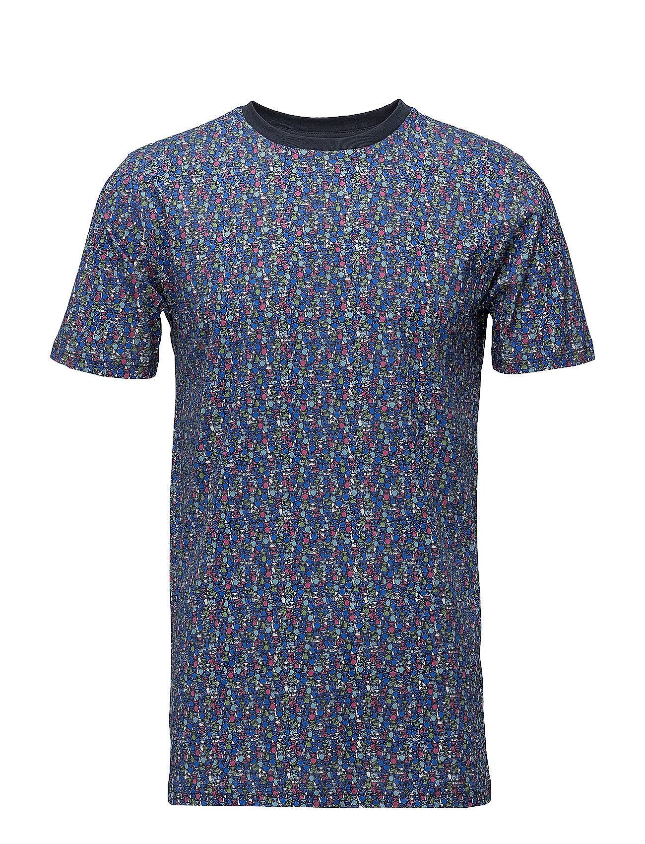 Knowledge Cotton Apparel T-Shirt With All Over Owl Print - Gots