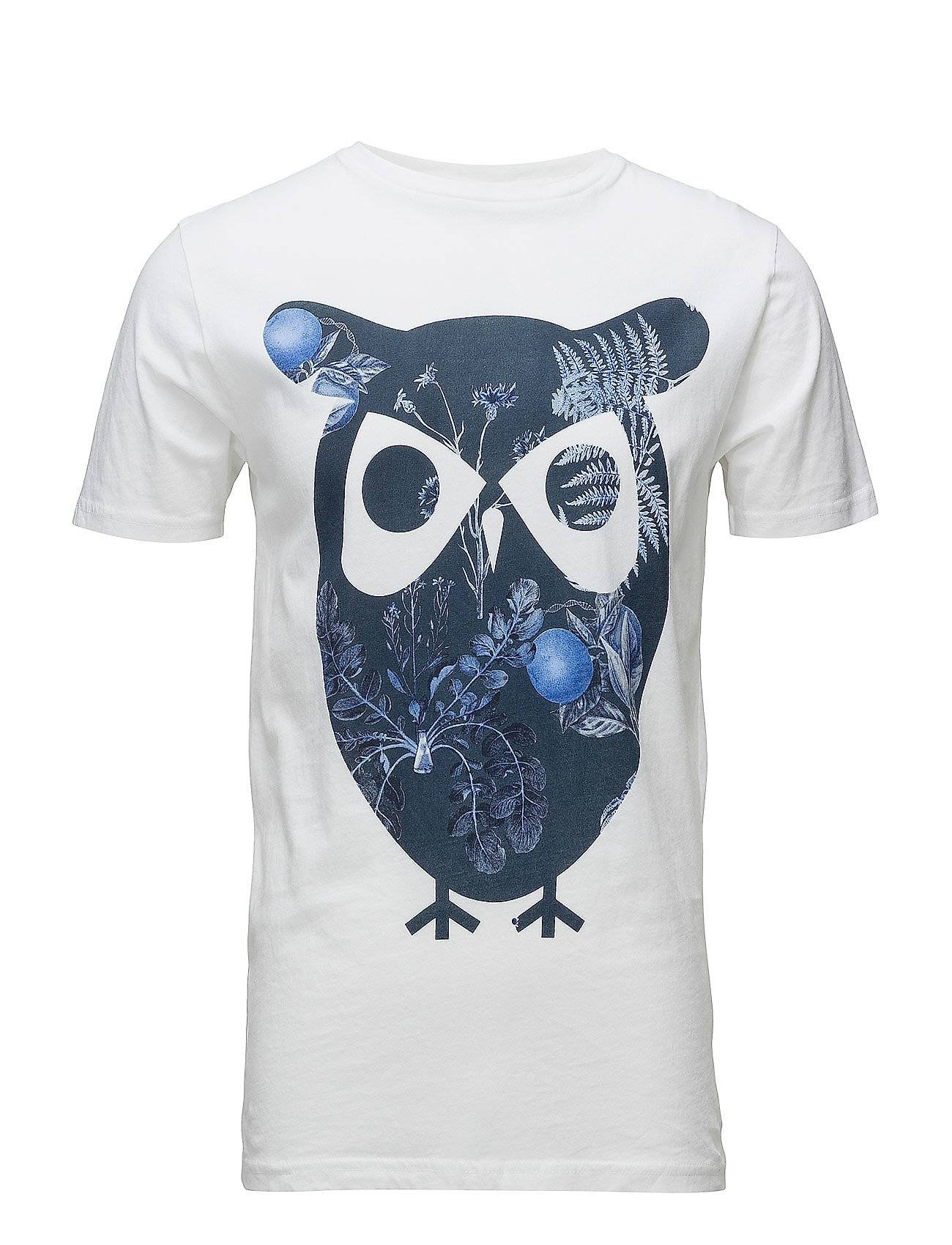 Knowledge Cotton Apparel T-Shirt With Owl Print - Gots