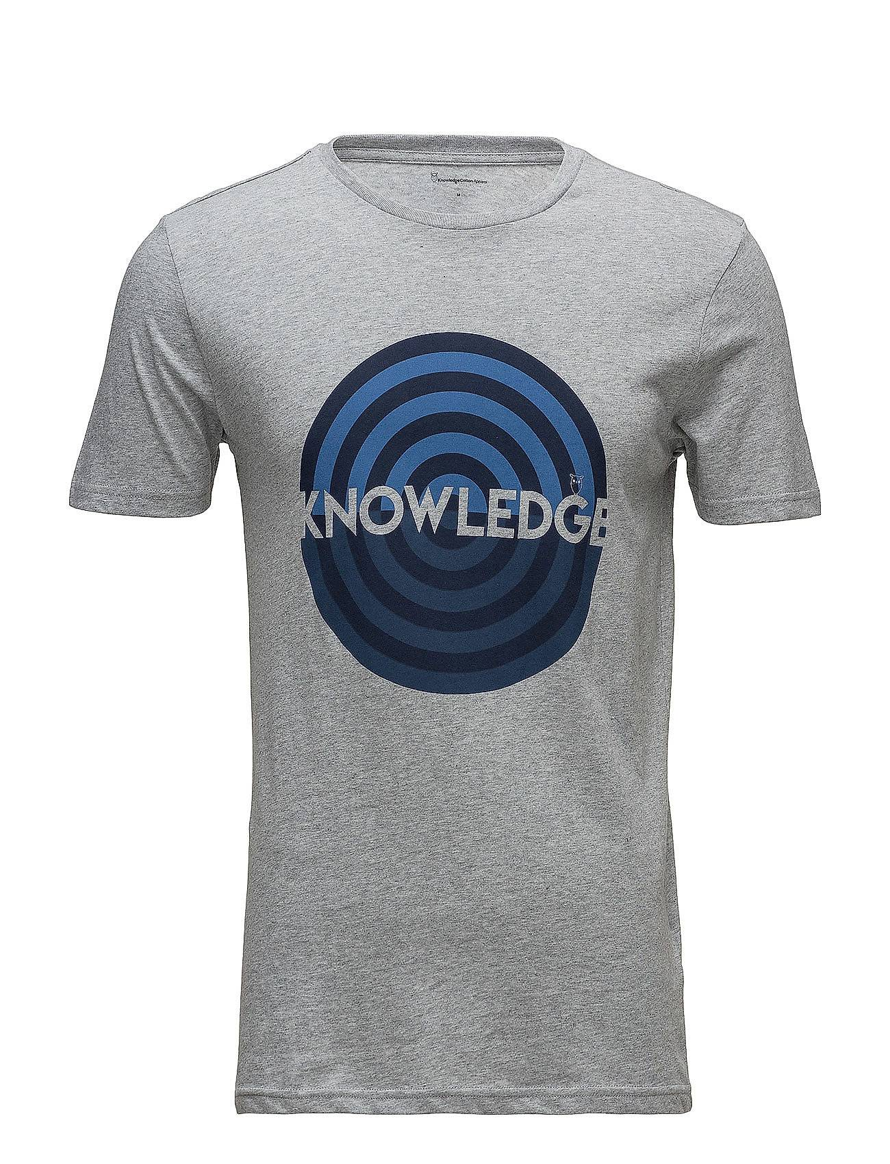 Knowledge Cotton Apparel T-Shirt With Knowledge Print - Gots