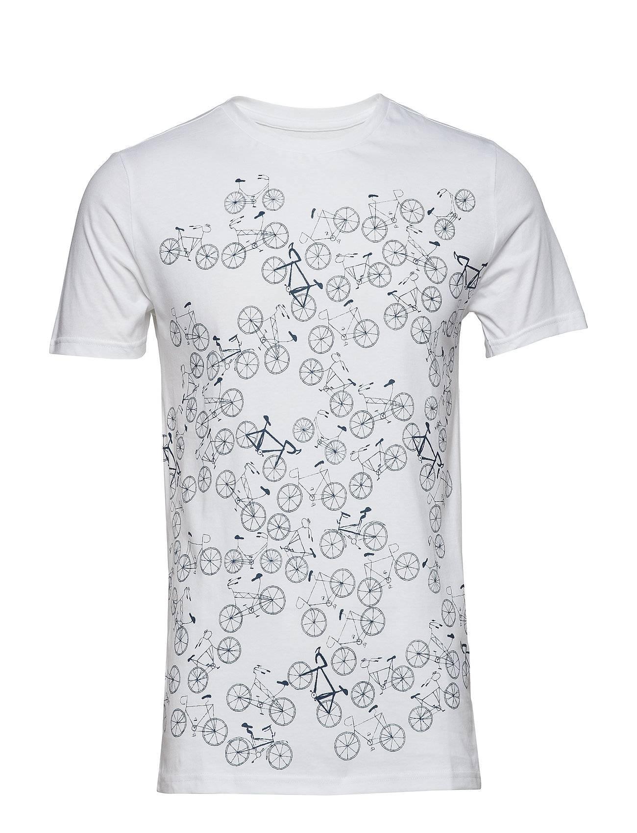 Knowledge Cotton Apparel T-Shirt With Bike Front Print - Got