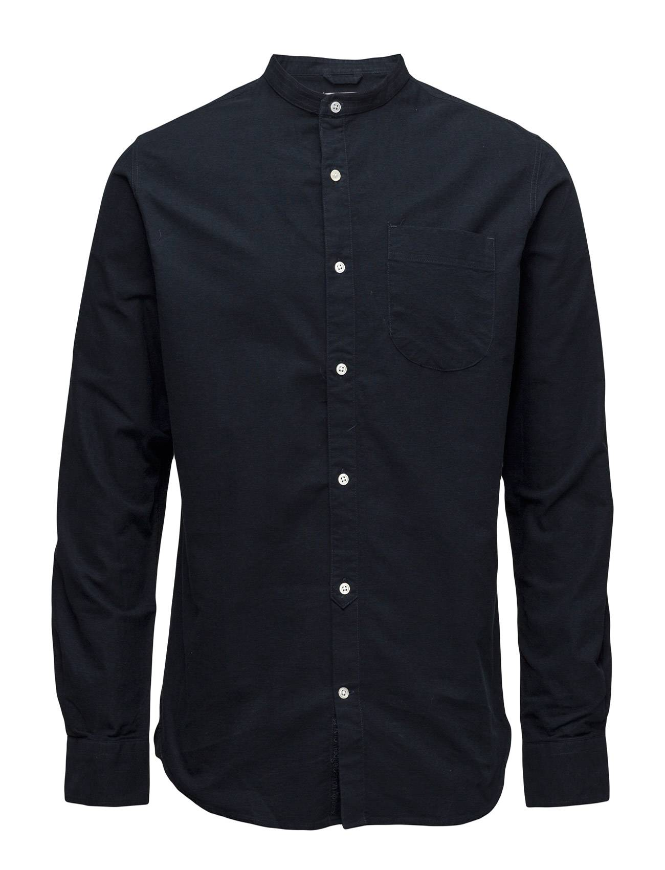 Knowledge Cotton Apparel Stand Collar Shirt - Gots