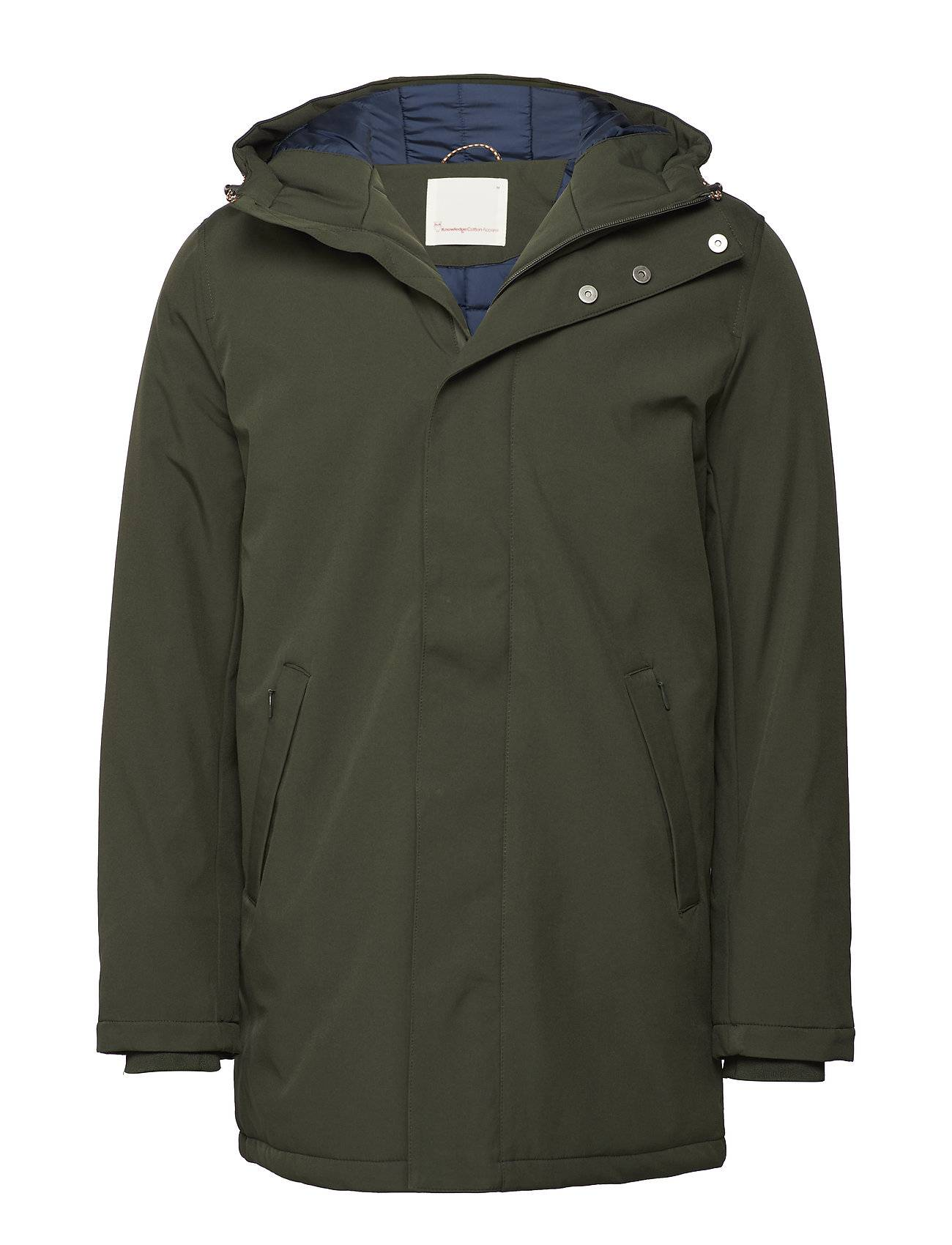 Knowledge Cotton Apparel Long Soft Shell Quilted Jacket - Gr