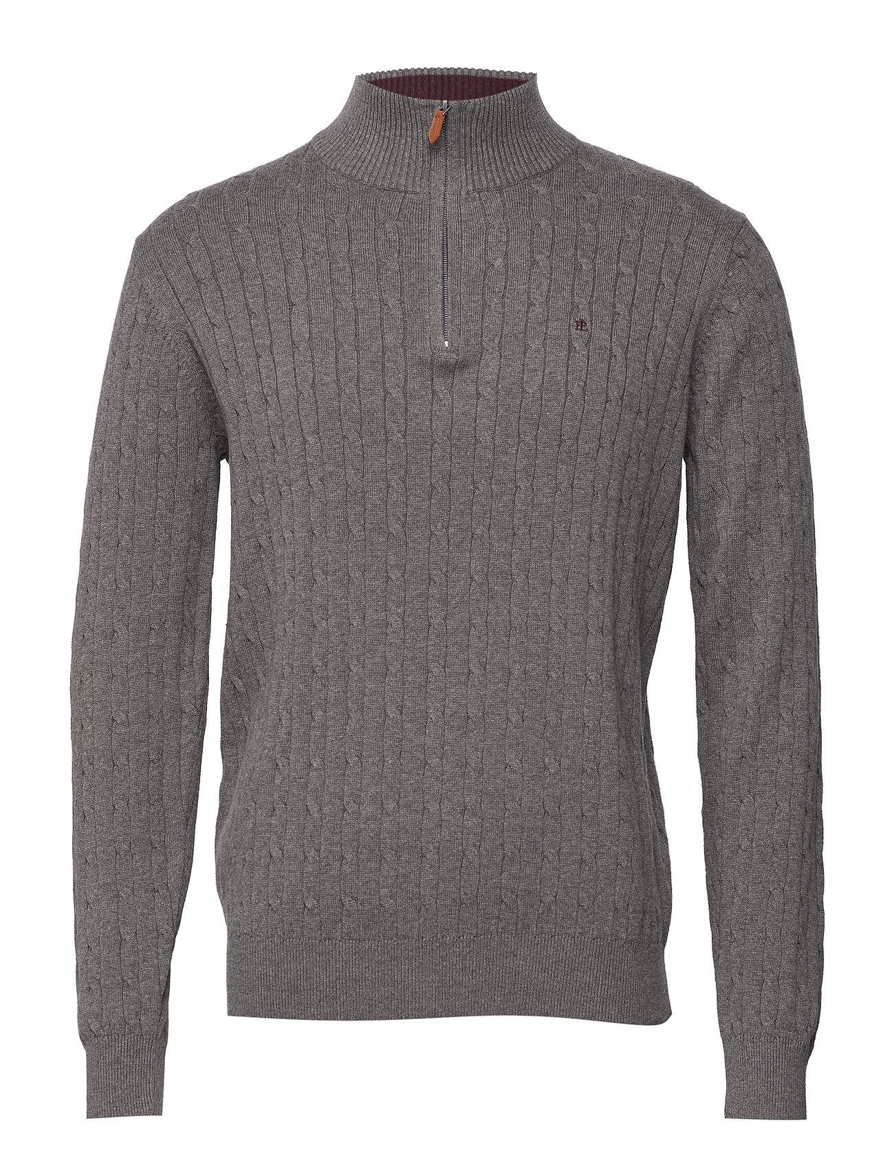 Park Lane Cable Zip Pullover