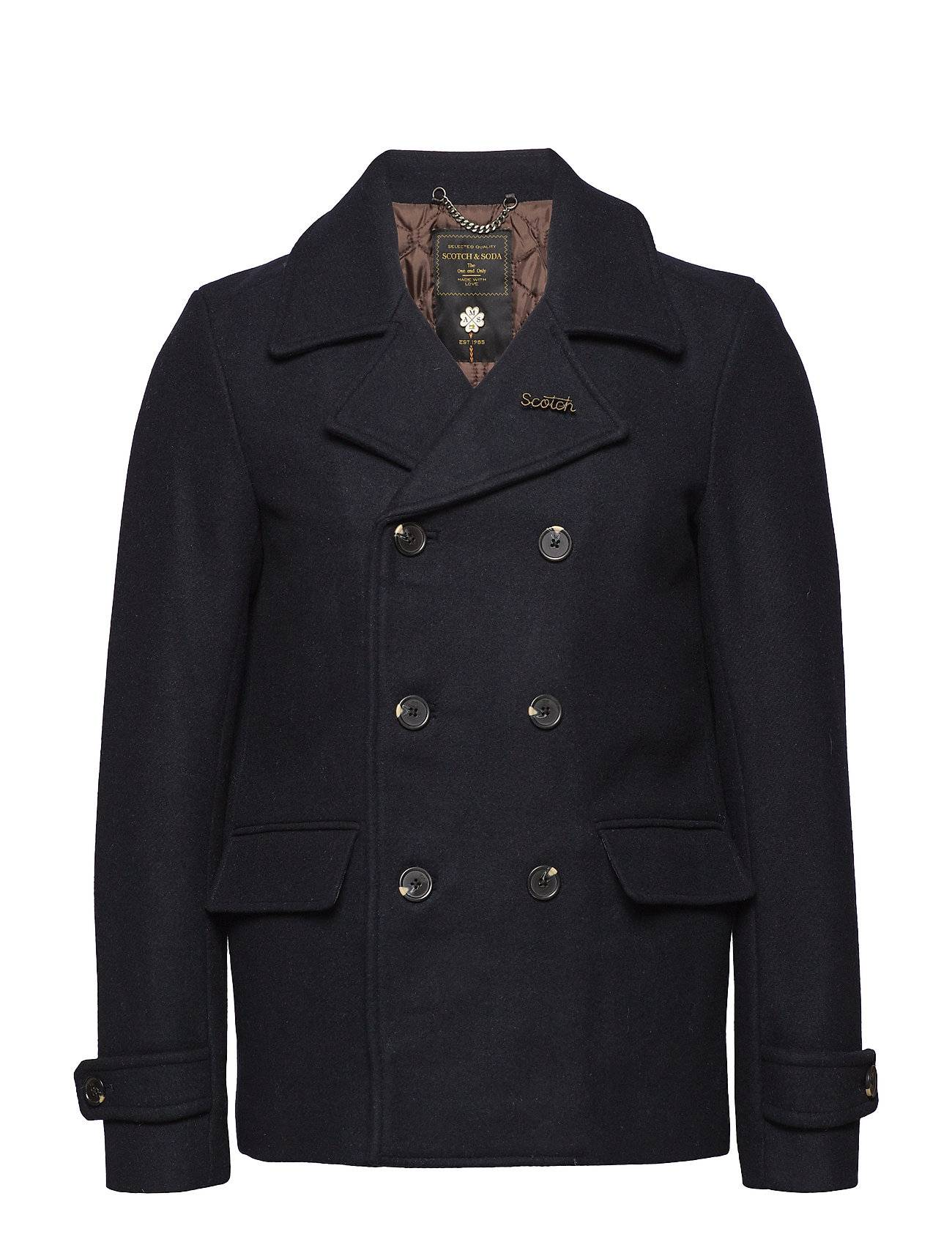 Scotch & Soda Classic Caban Jacket With Quilted Lining