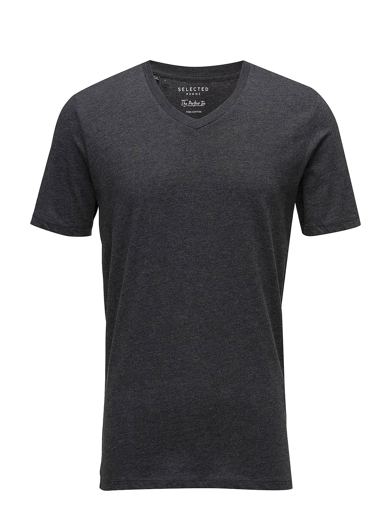 Selected Homme Slhtheperfect Ss V-Neck Tee B