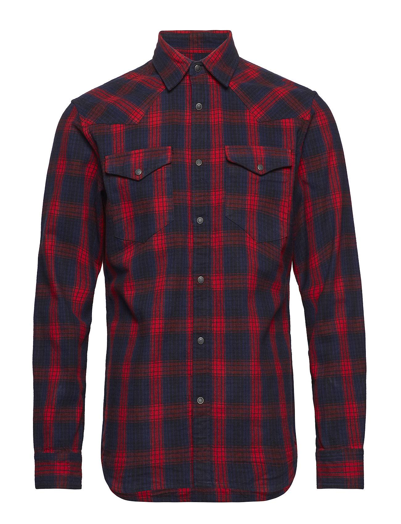 Selected Homme Slhslimned-Pal Shirt Ls Check W