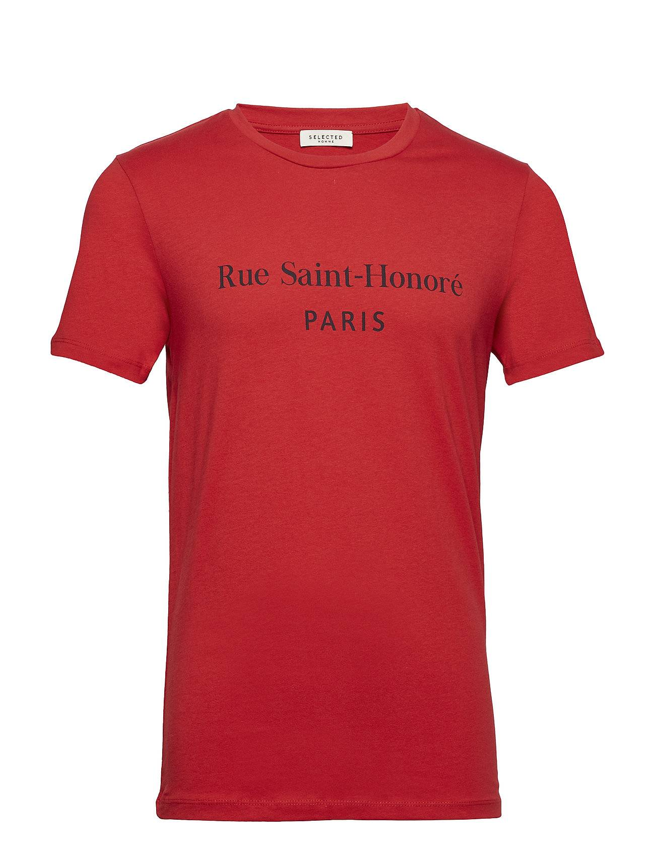 Selected Homme Slhsimoncity Ss O-Neck Tee W Ex
