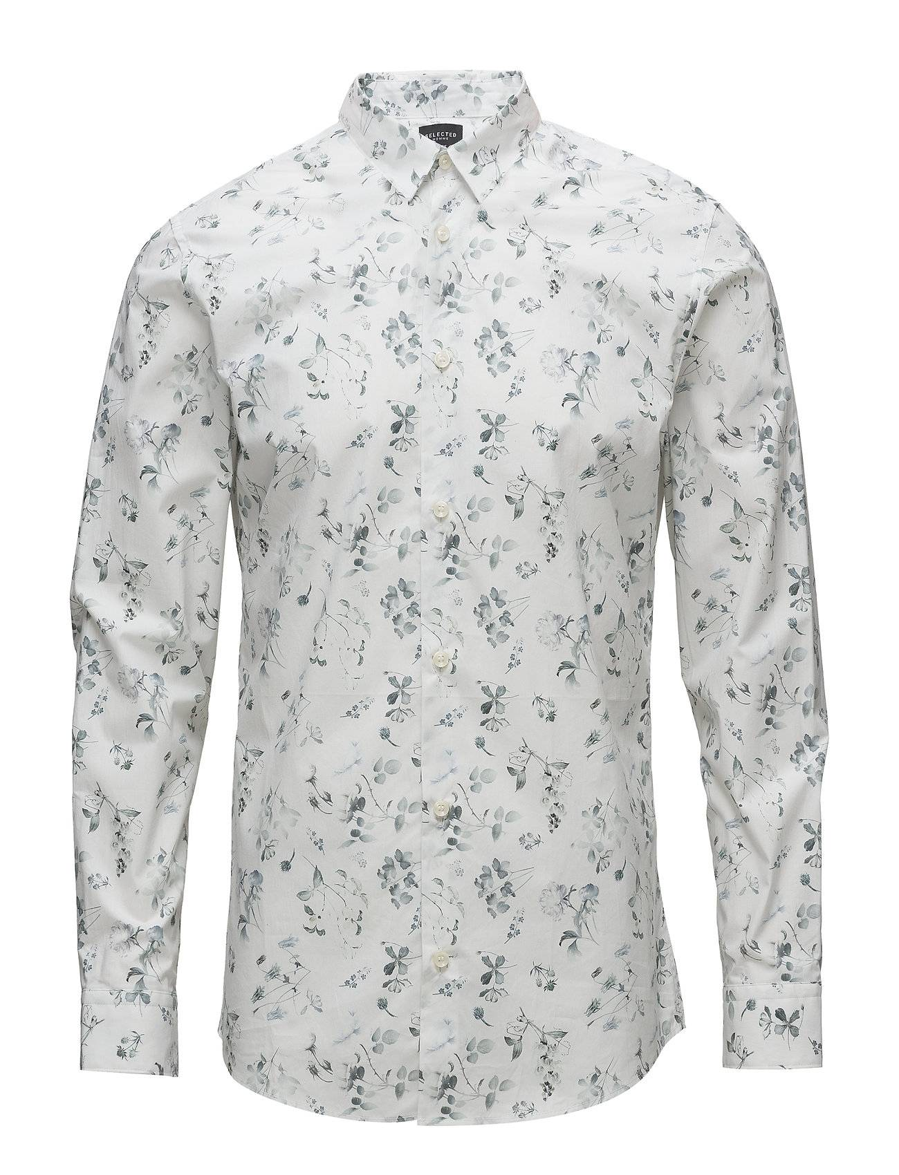 Selected Homme Slhslimlit-Heimdal Shirt Ls Digital Ex
