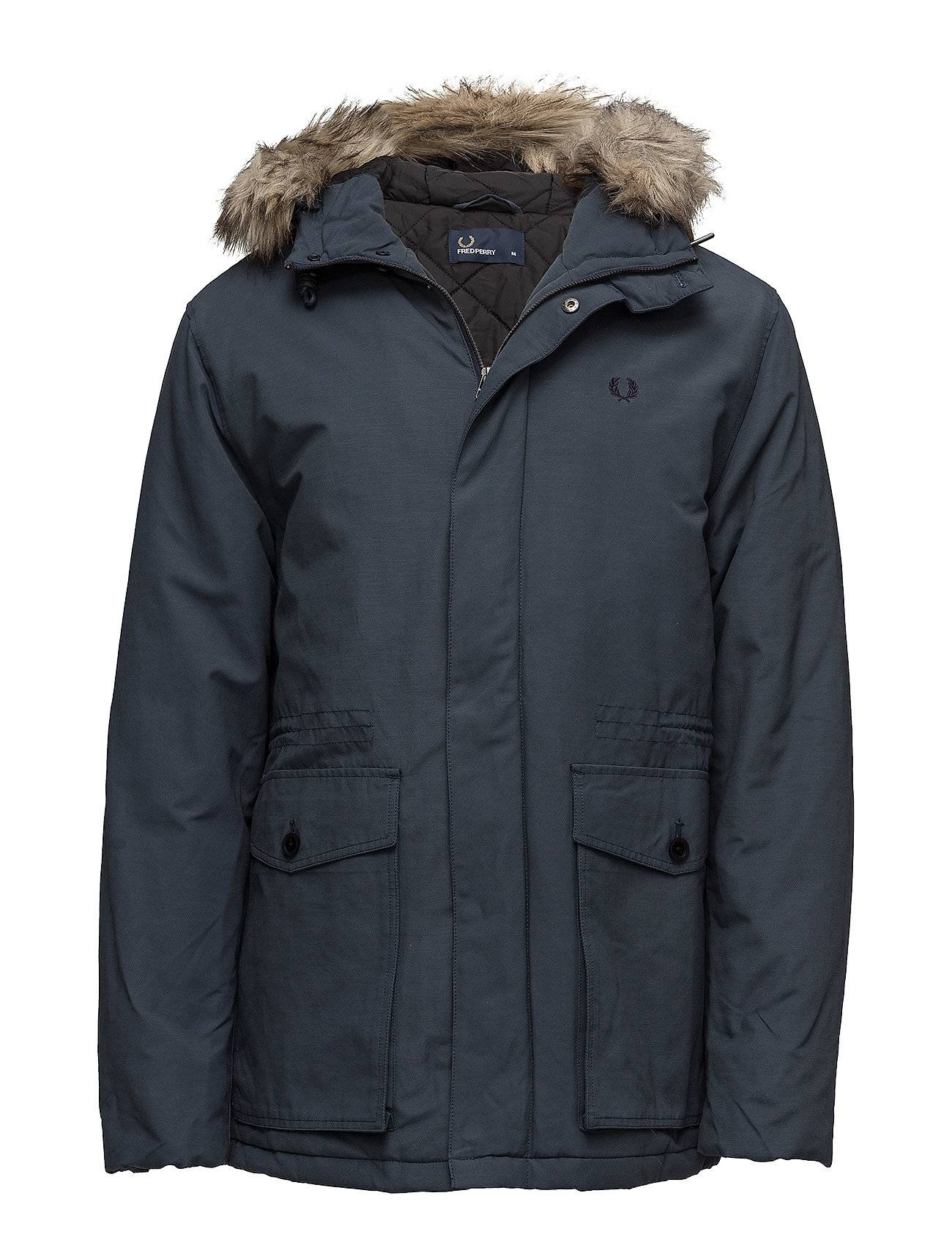 Fred Perry Quilted Fur Trim Parka
