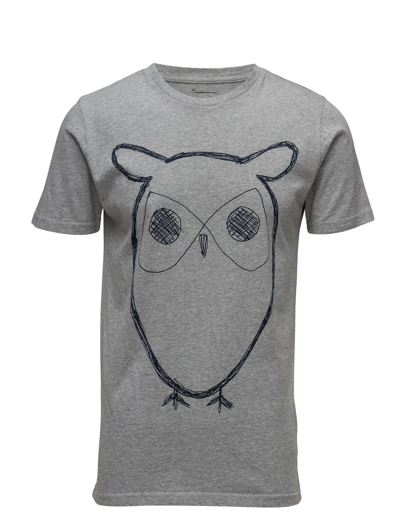 Knowledge Cotton Apparel Single Jersey With Owl Print - Gots