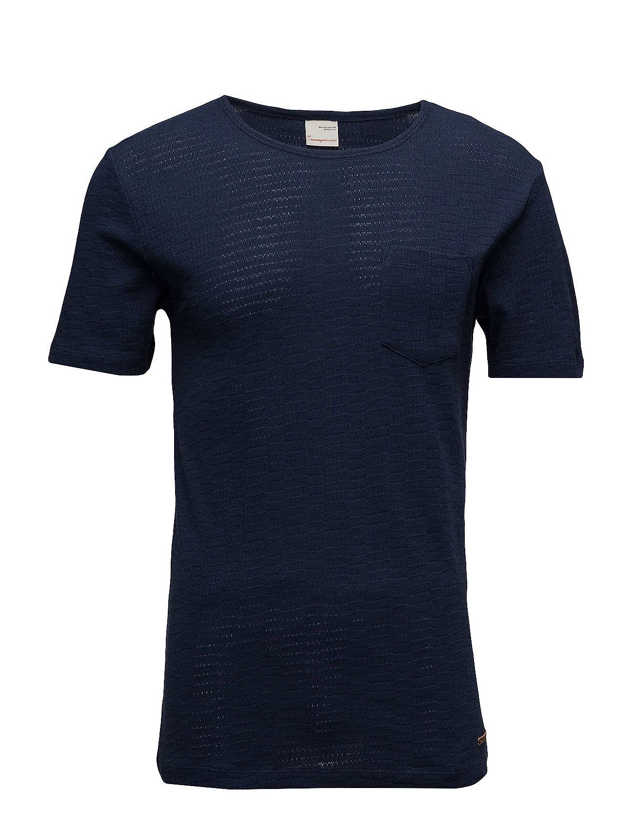Knowledge Cotton Apparel Tee Rib Structure