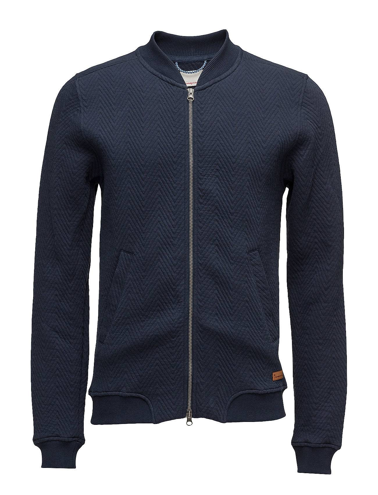 Knowledge Cotton Apparel Quilted Zip Cardigan - Ocs