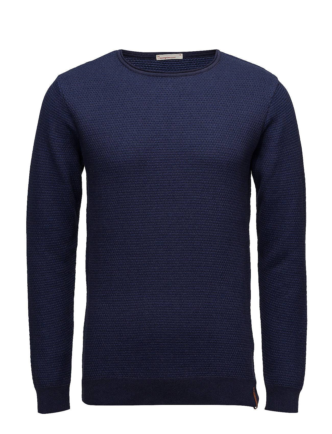 Knowledge Cotton Apparel Two Toned Round Neck Knit - Gots