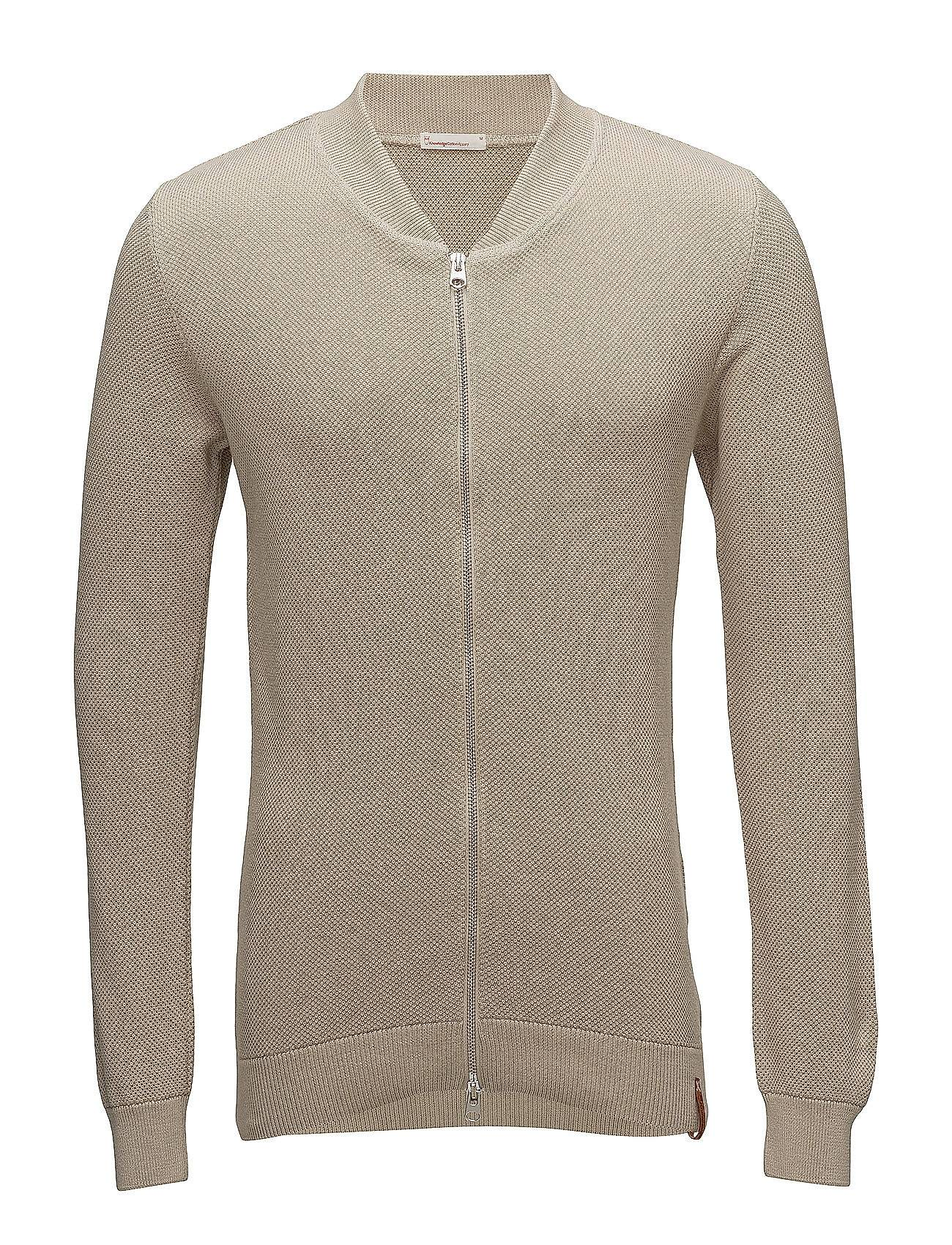 Knowledge Cotton Apparel Pique Knitted Cardigan   - Gots