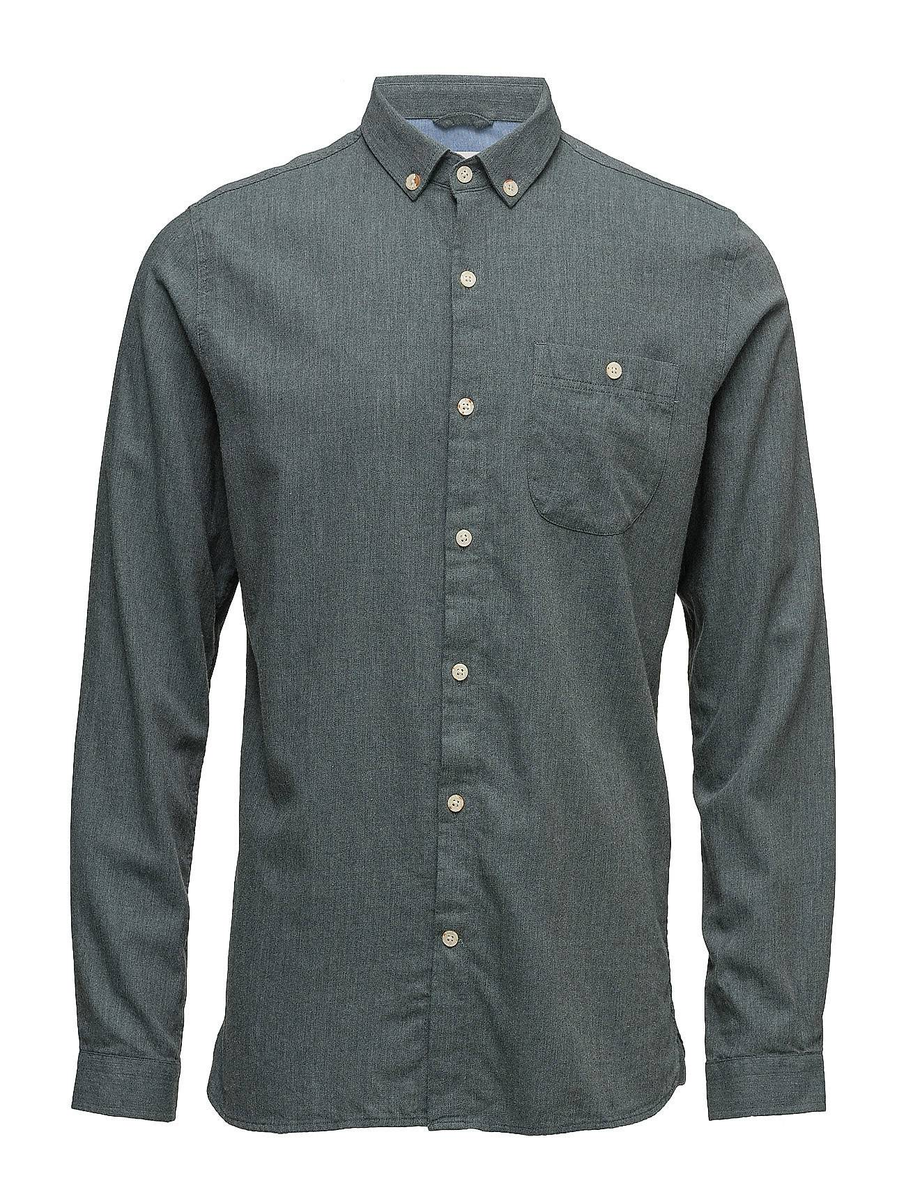 Knowledge Cotton Apparel Solid Col. Flannel Shirt - Gots