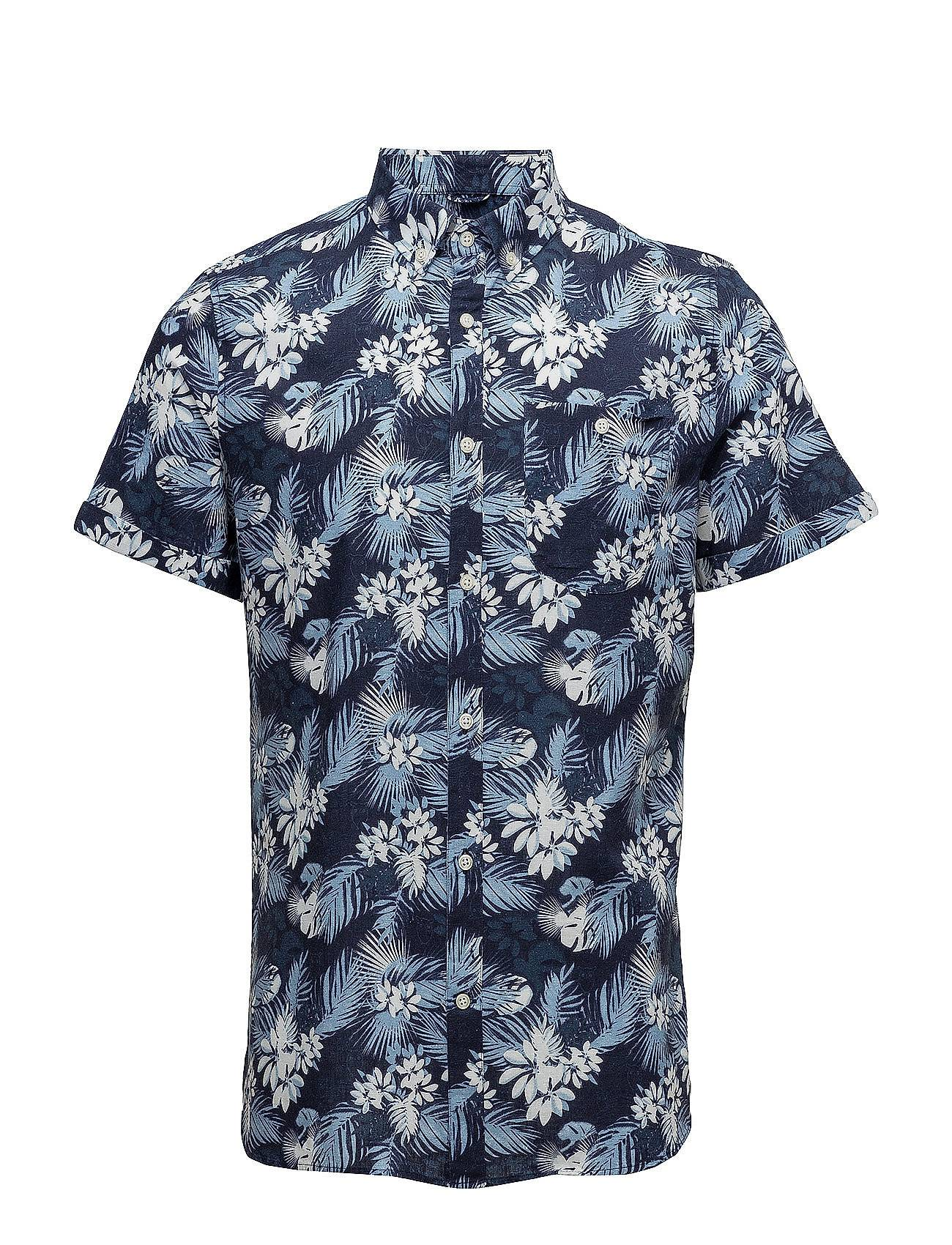 Knowledge Cotton Apparel All Over Printed Co/Linen Shirt - S